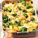 Kartoffel brokkoli auflauf mit tomatensauce