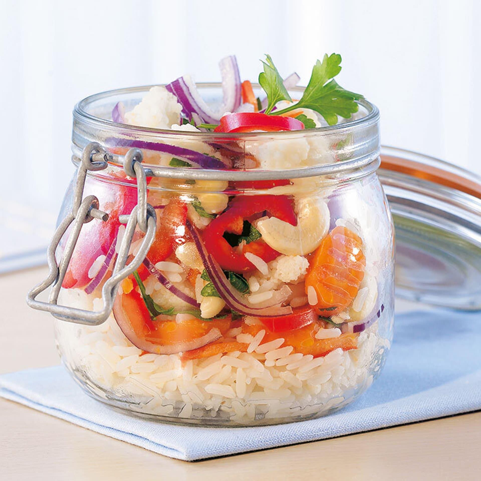 Knackiges Gemüse mit Reis