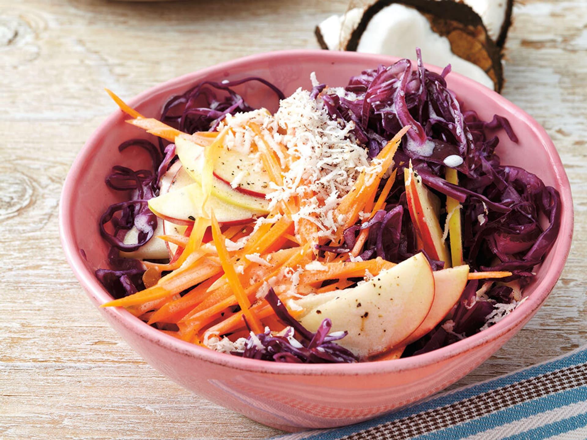 Kokos-Rotkohl-Salat