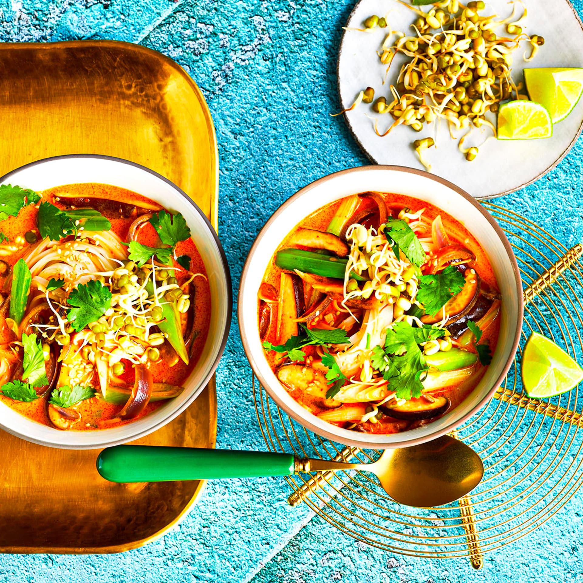 Kokossuppe mit Mungobohnen