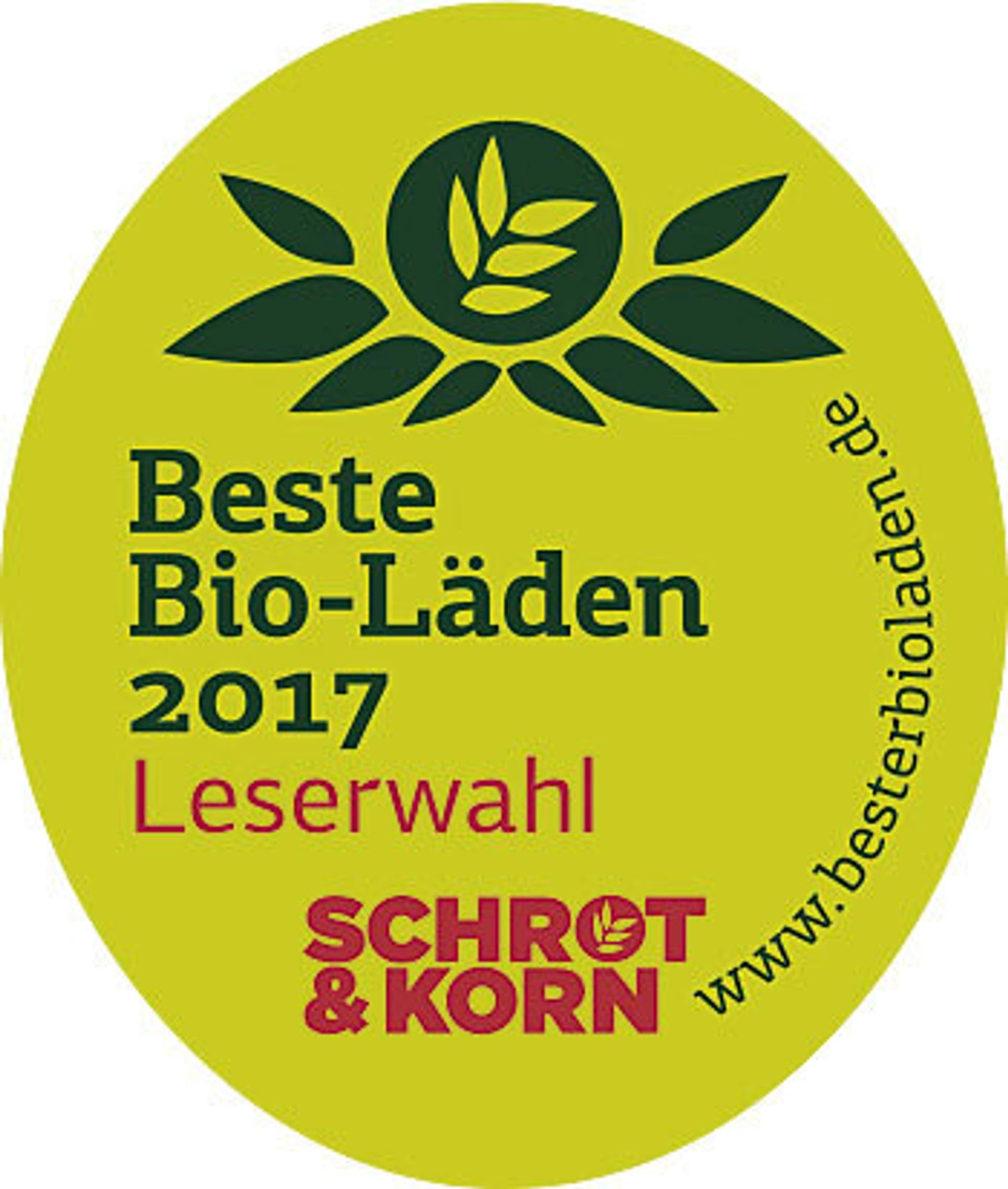 Bester Bio-Laden 2017 Logo
