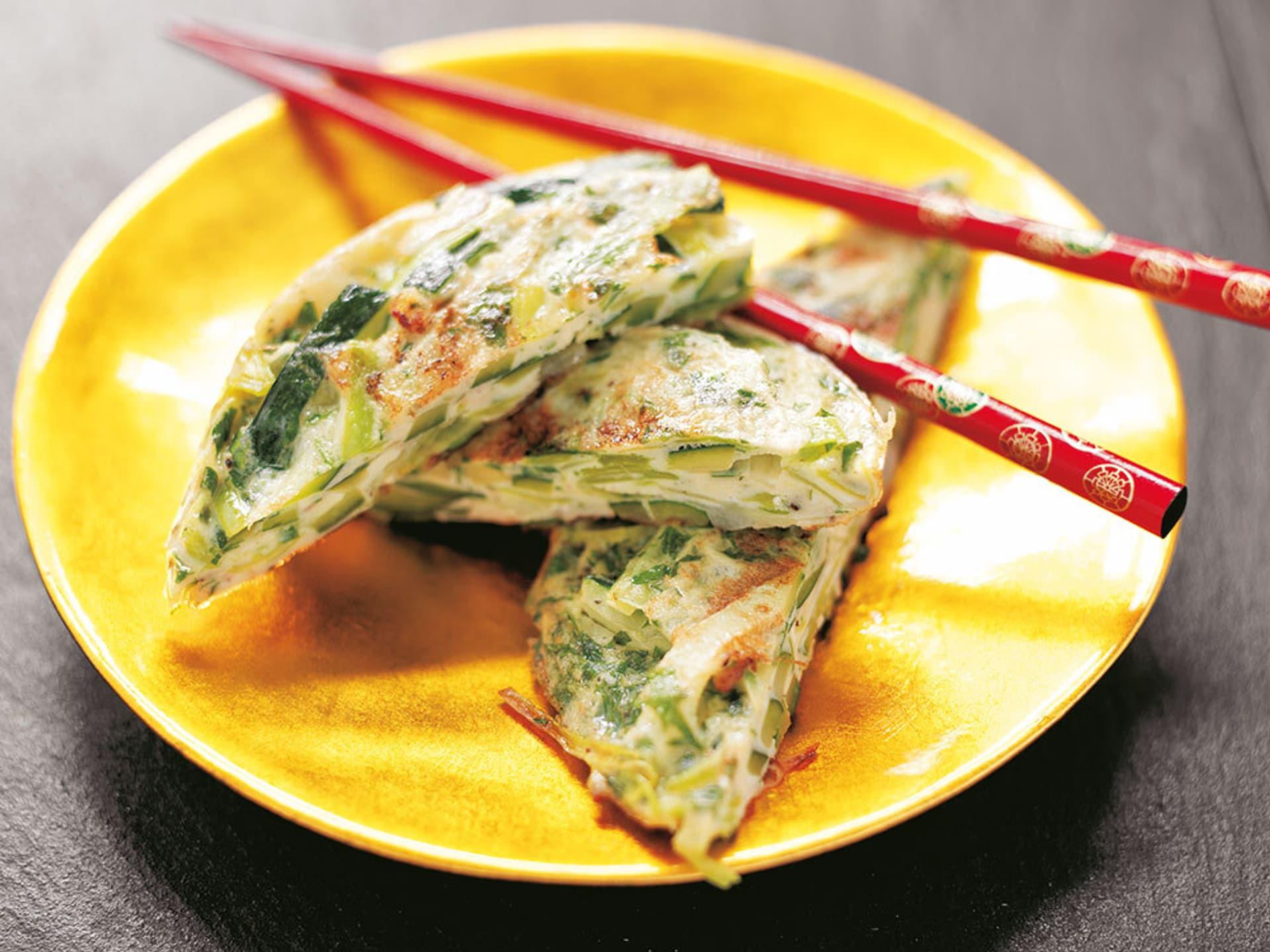 Lauch-Zucchini-Frittata