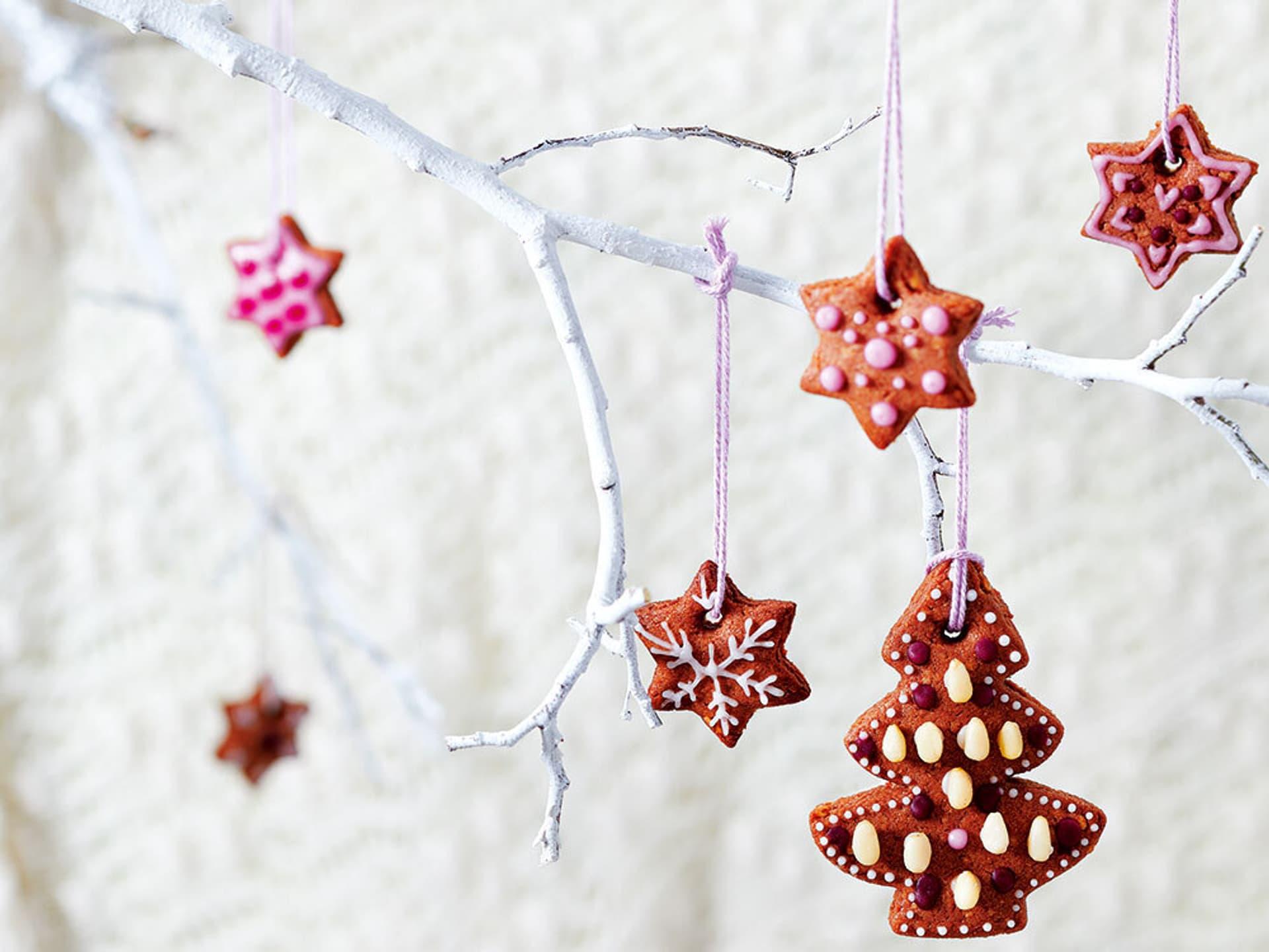 Lebkuchen-Weihnachtsbaum und Lebkuchen-Sterne