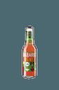 Flasche mit rosarotem Inhalt