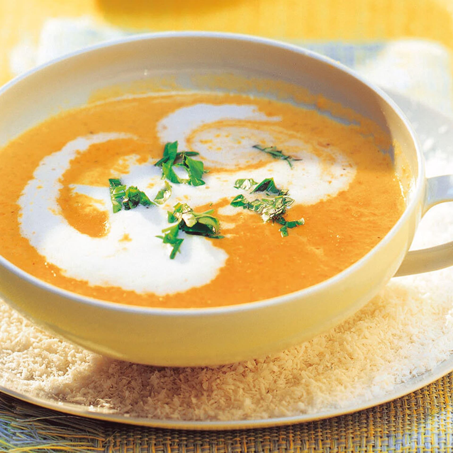 Linsen-Kürbis-Suppe