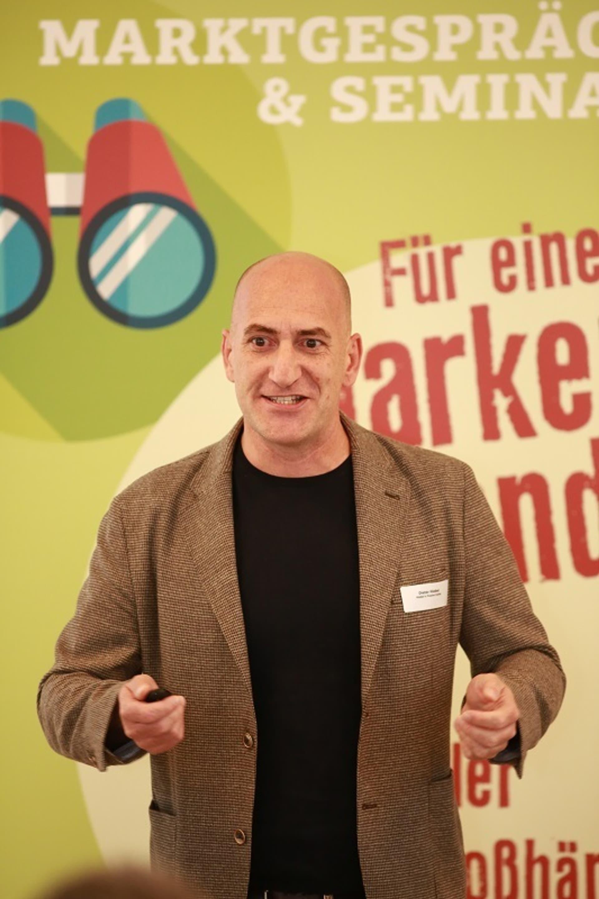 Dieter Hieber beim Marktgespräch