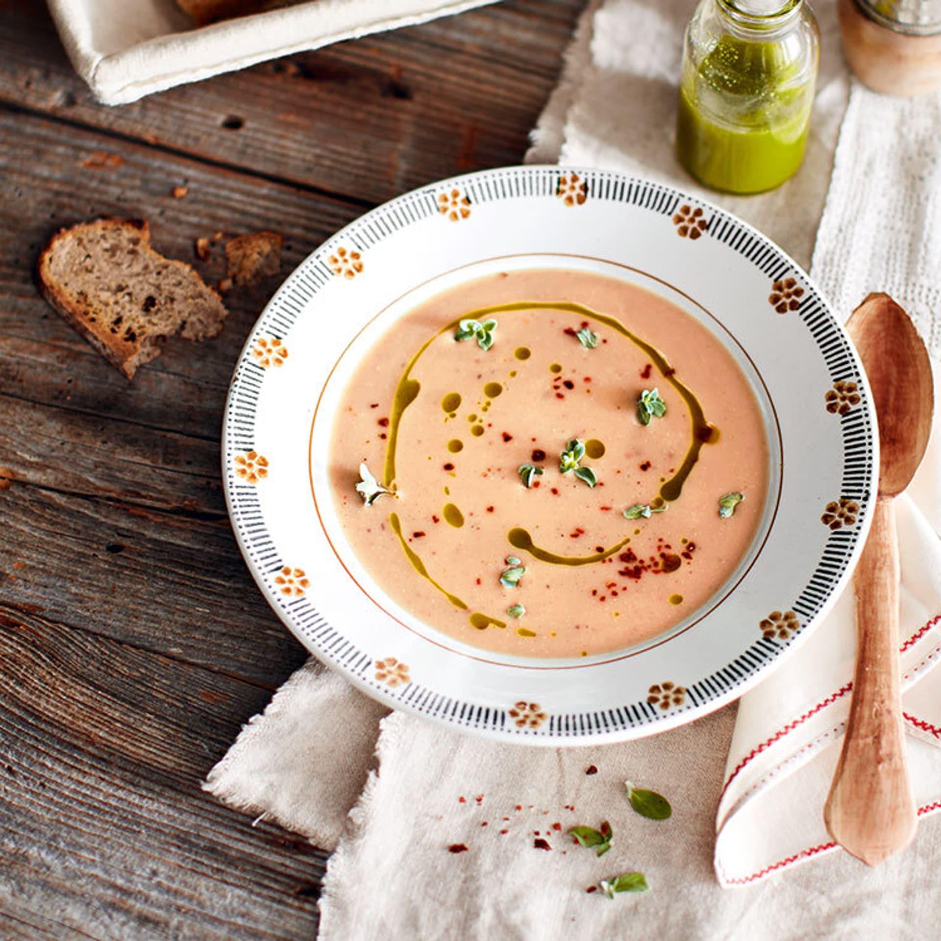 Maronensuppe mit Kräuteröl