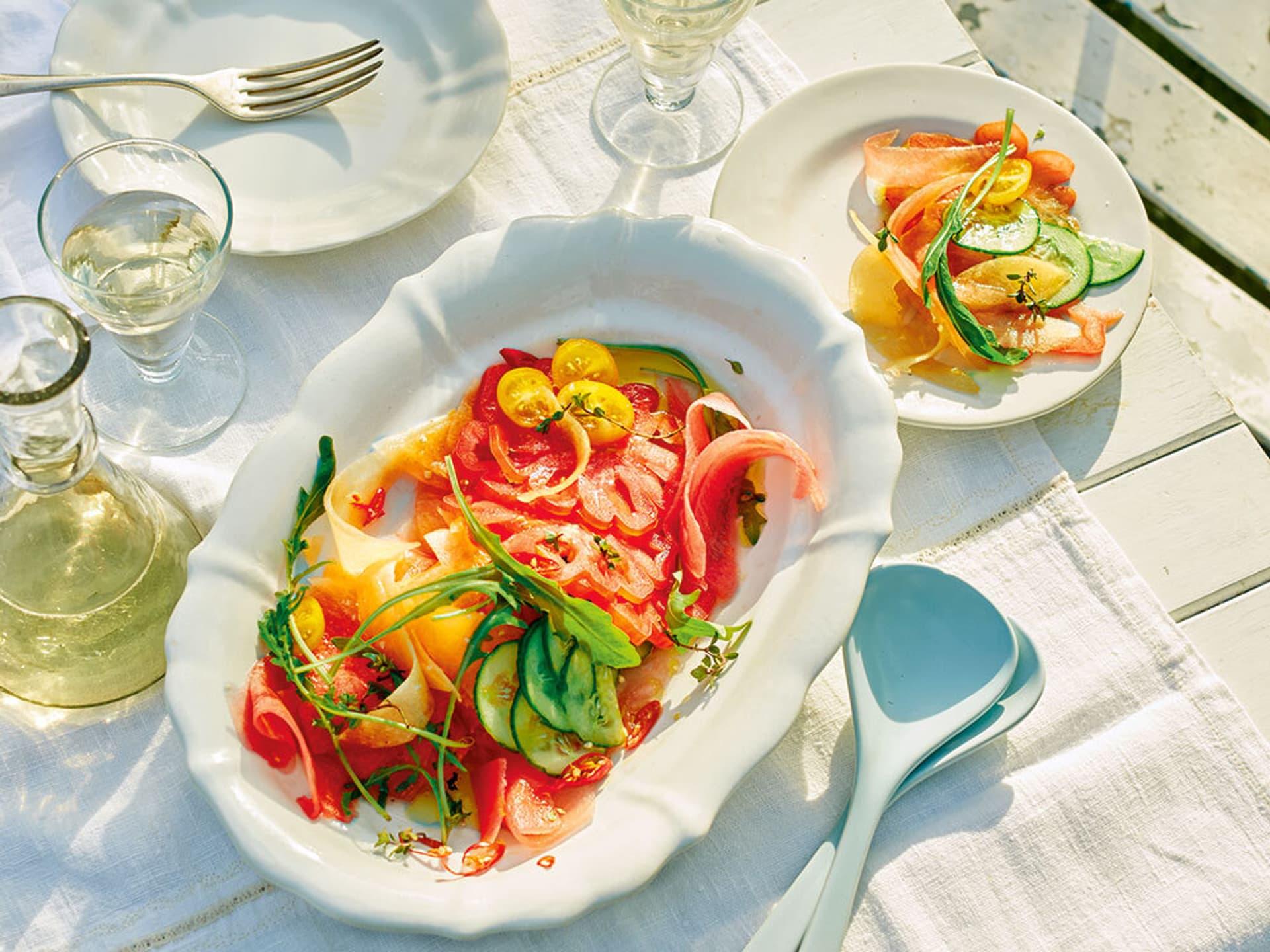 Melonen-Tomaten-Salat