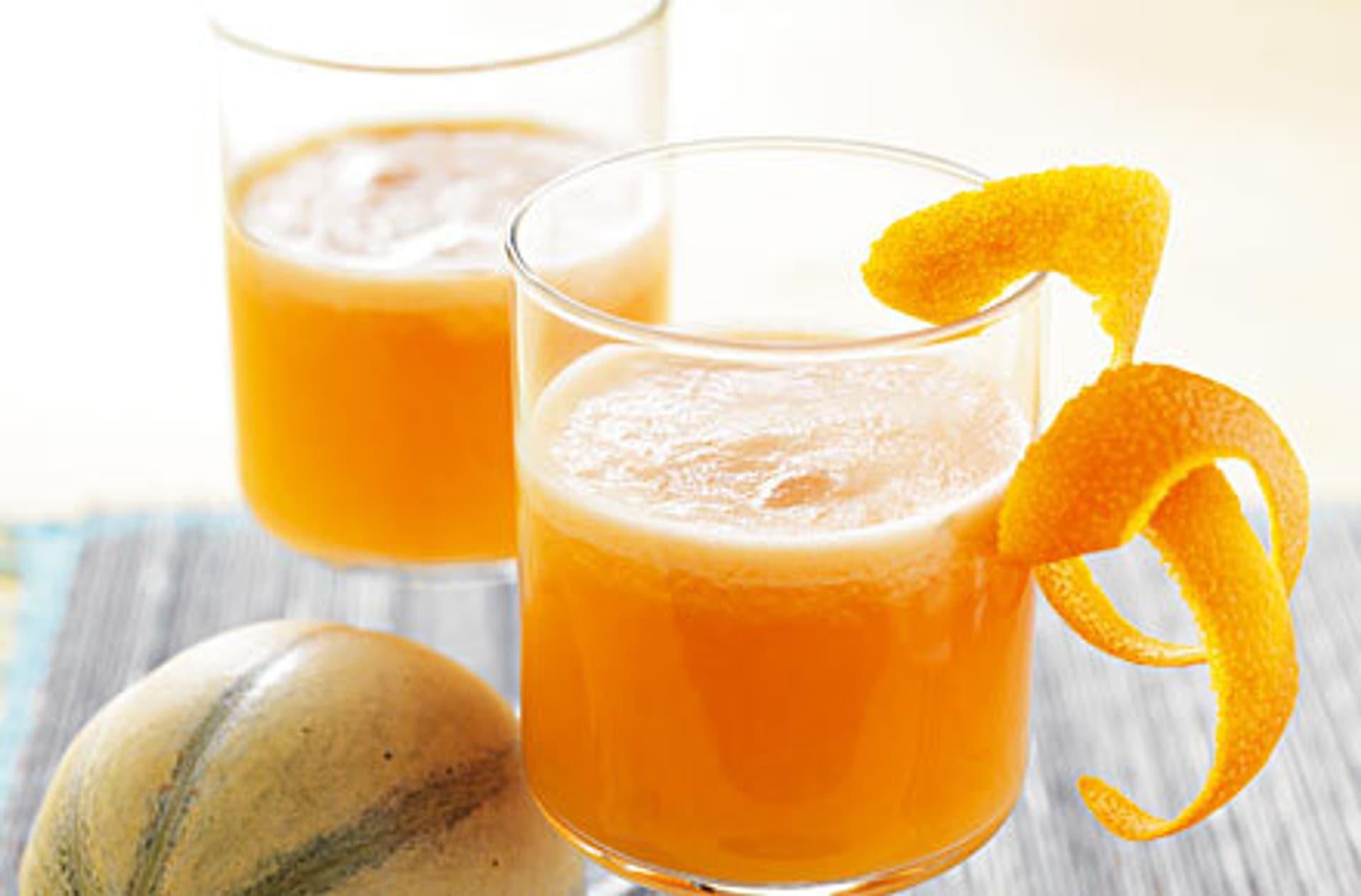 Melonendrink mit limettensaft