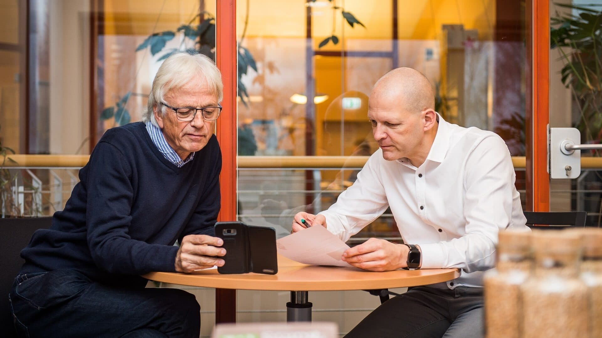 Bohlsener Mühle, Geschäftsführer Volker Krause (l.) und Mathias Kollmann