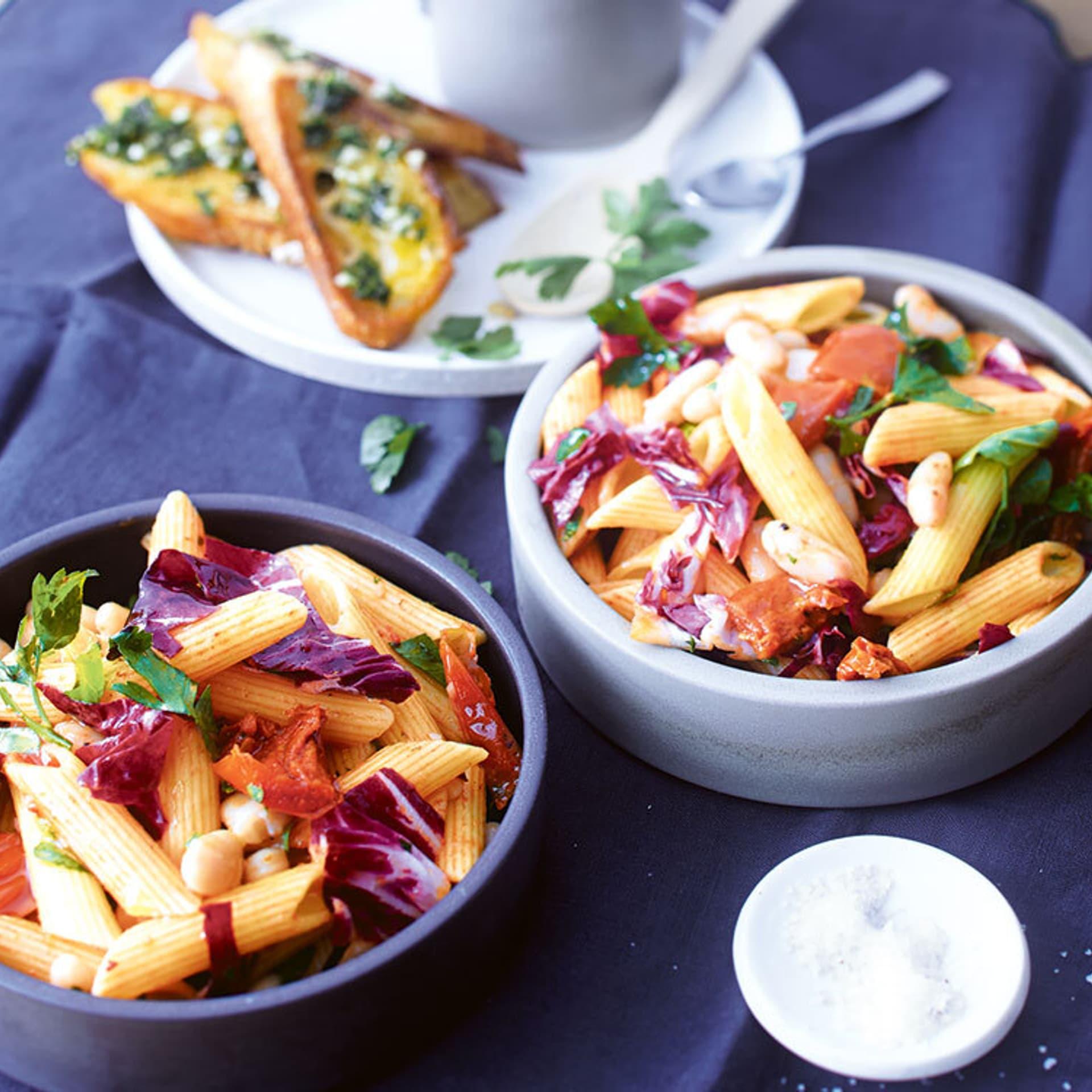 Nudel-Radicchio-Salat