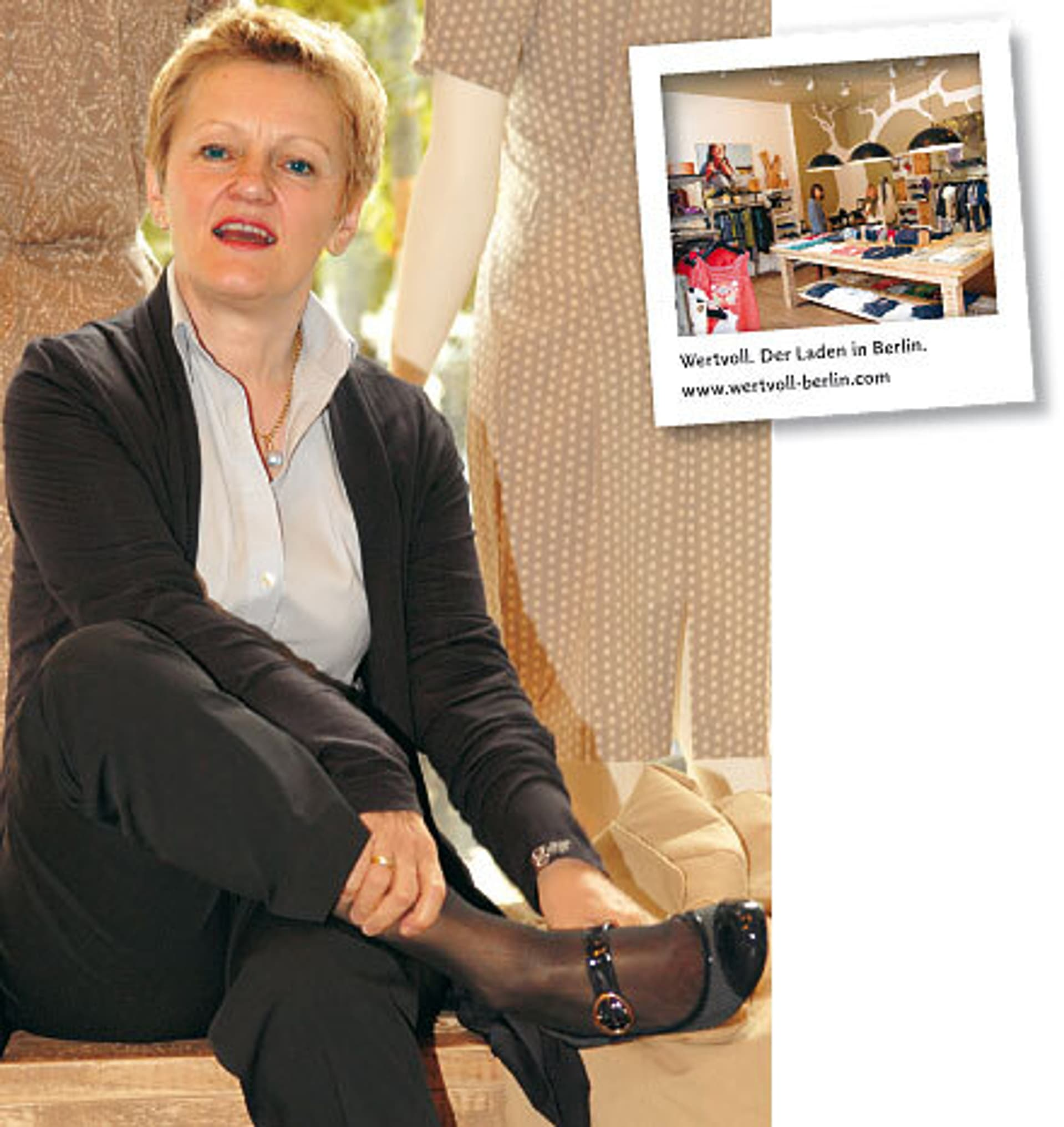Renate Künast im Laden wertvoll in Berlin