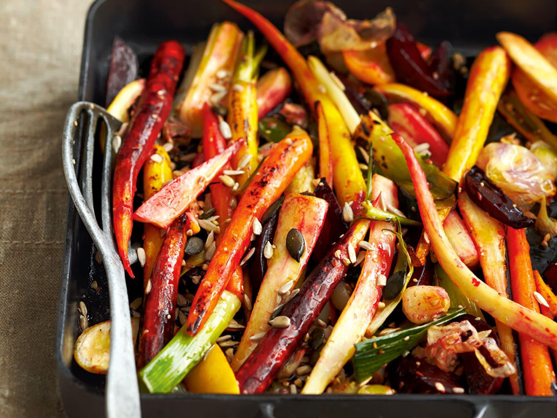 Ofenkarotten mit Gemüse