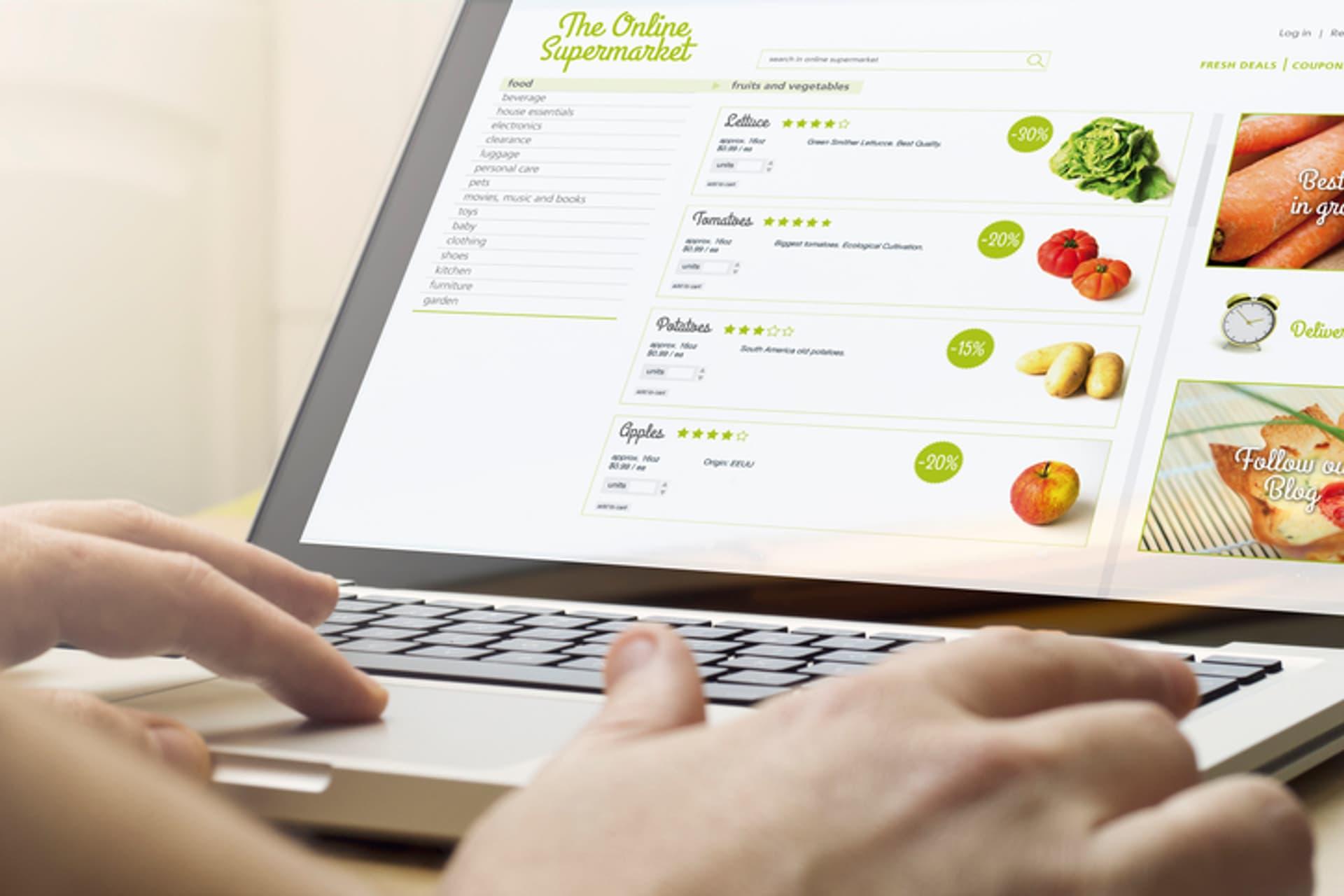 Onlinehandel, Lebensmittel, Onlineshop