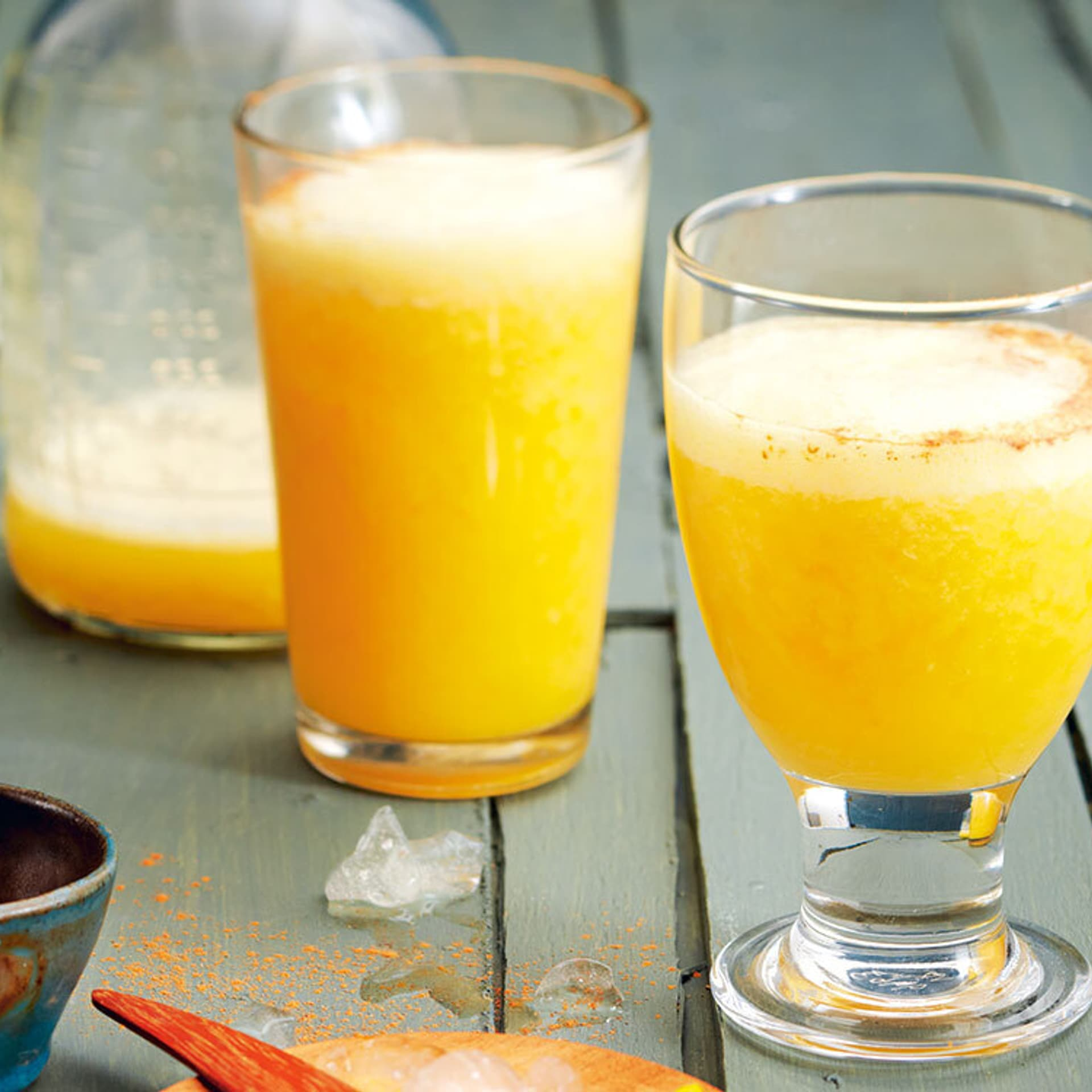 Orangenshake im Glas
