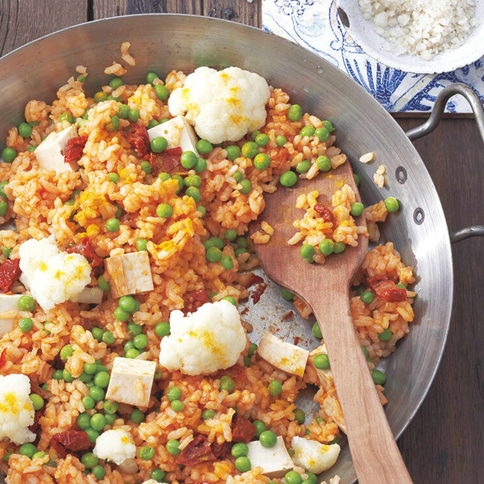 Paella mit Tofu