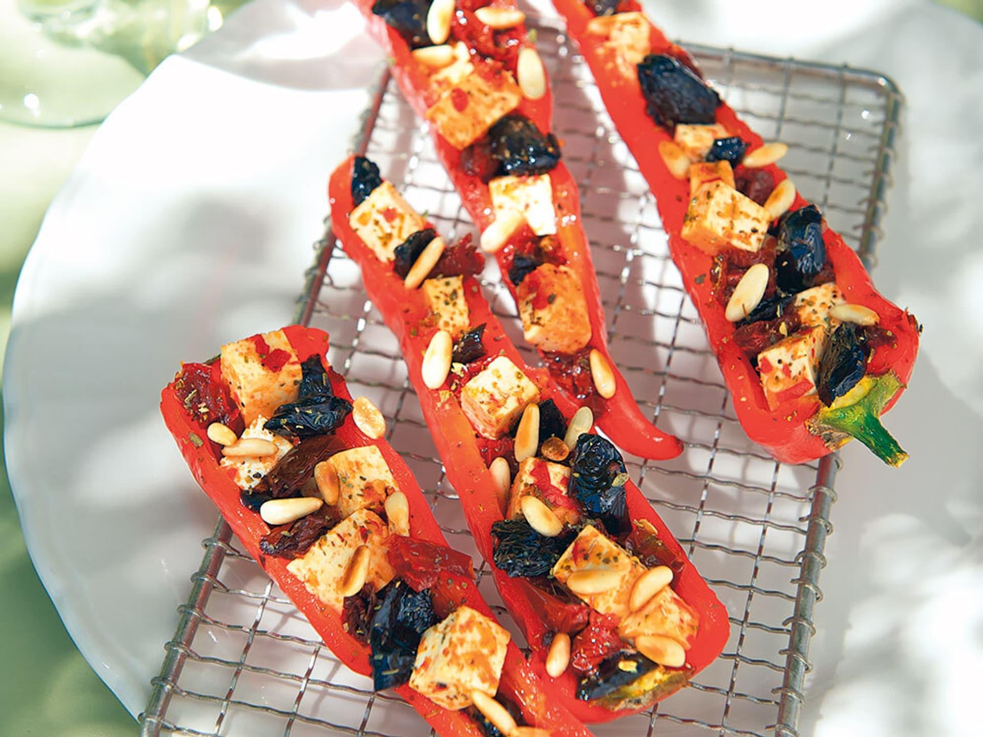 Paprika tofu schiffchen