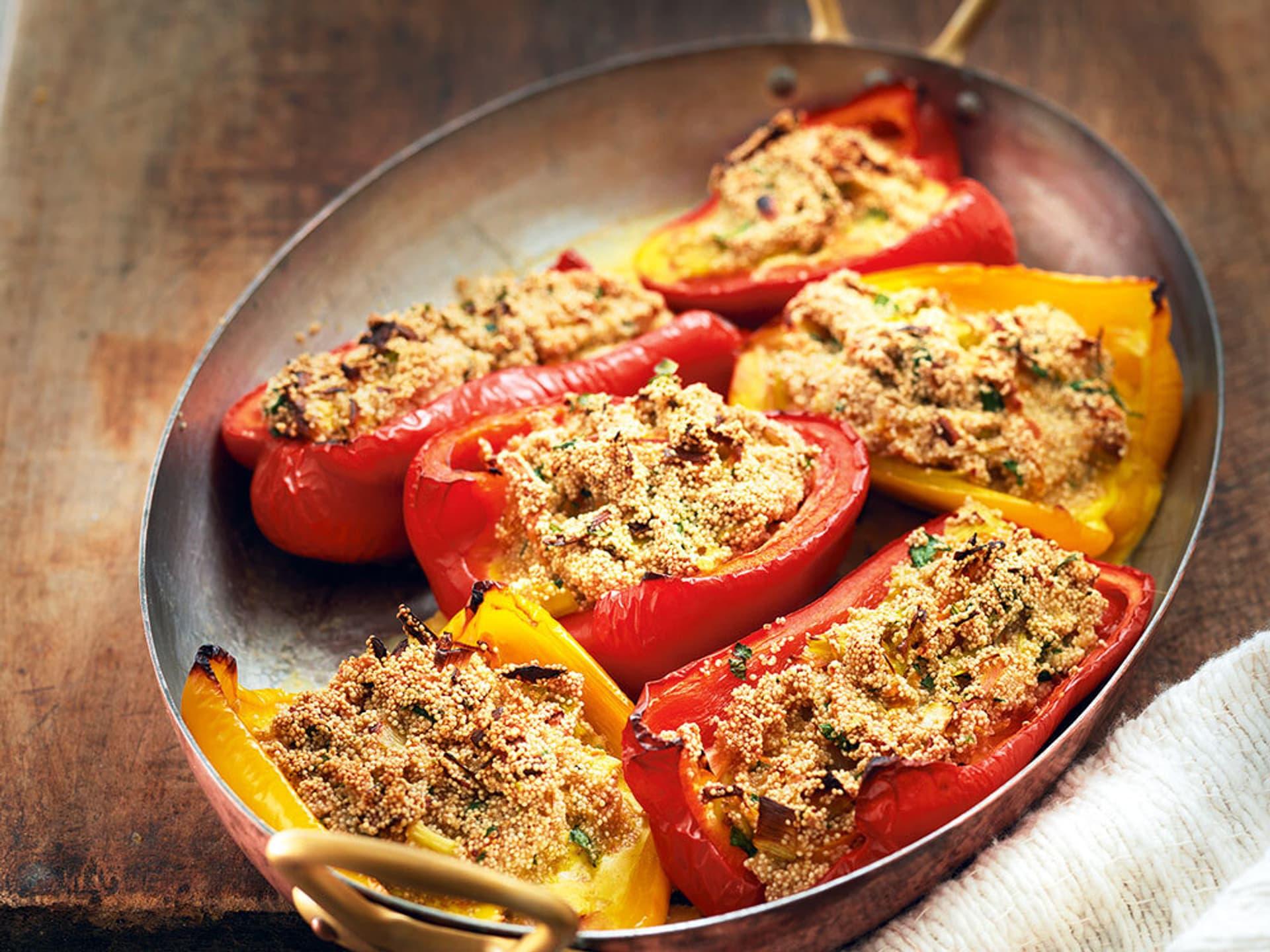 Peperoni mit Amaranthfüllung