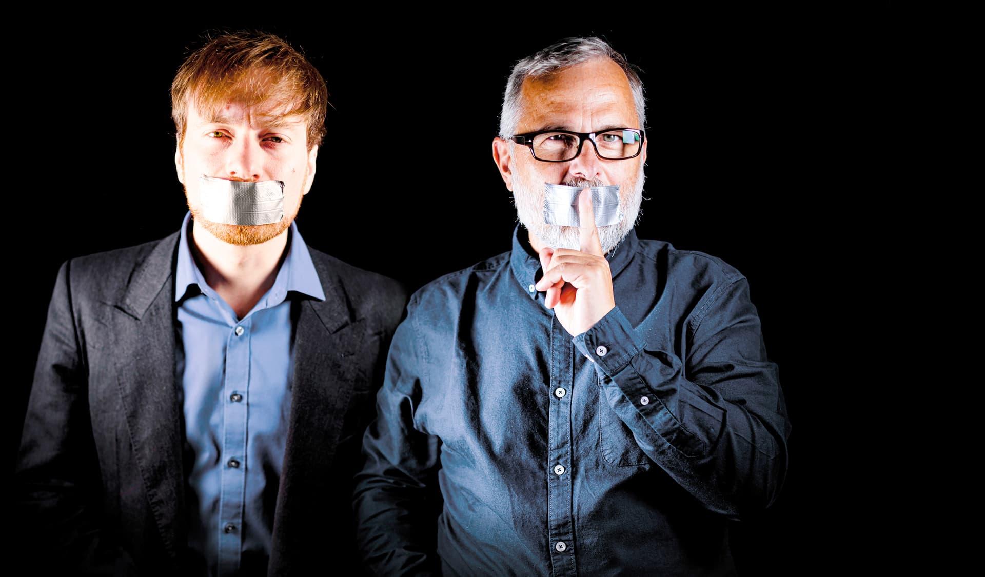 Agrarexperte Karl Bär und Filmemacher  Alexander Schiebel.