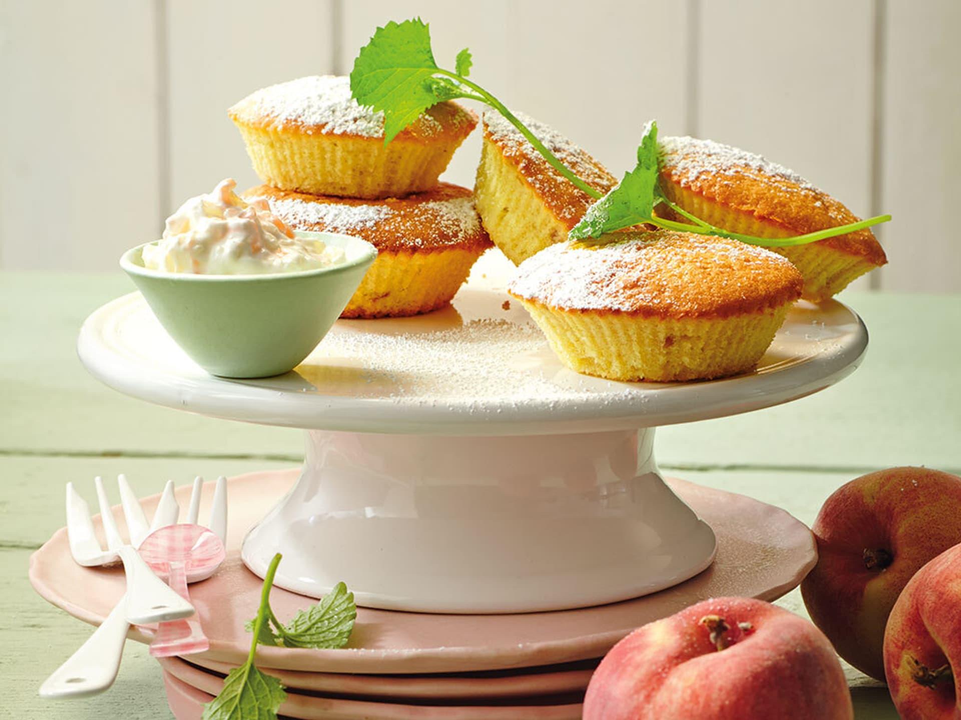 Pfirsich-Cupcakes mit Joghurt