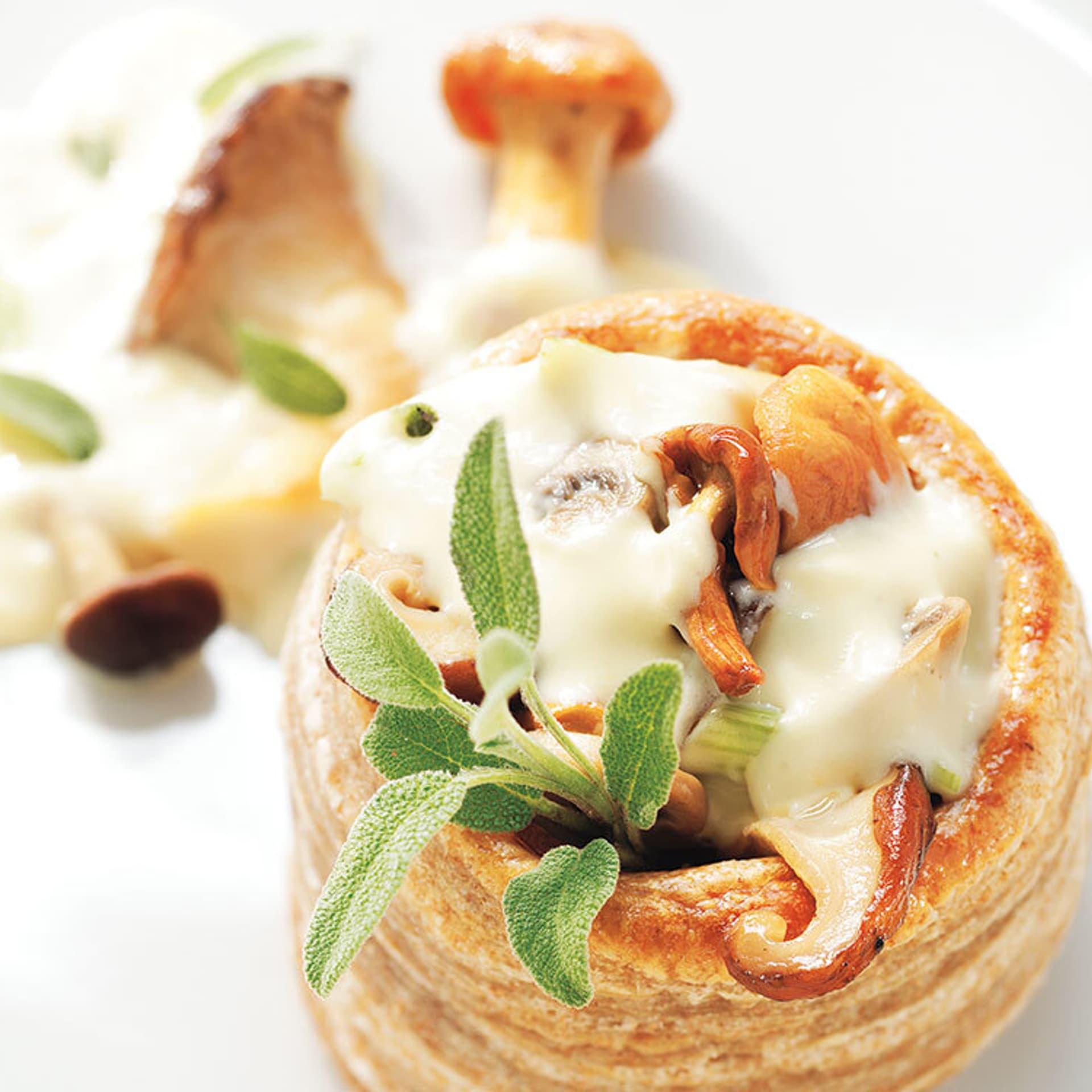 Pilz pastetchen mit salbei
