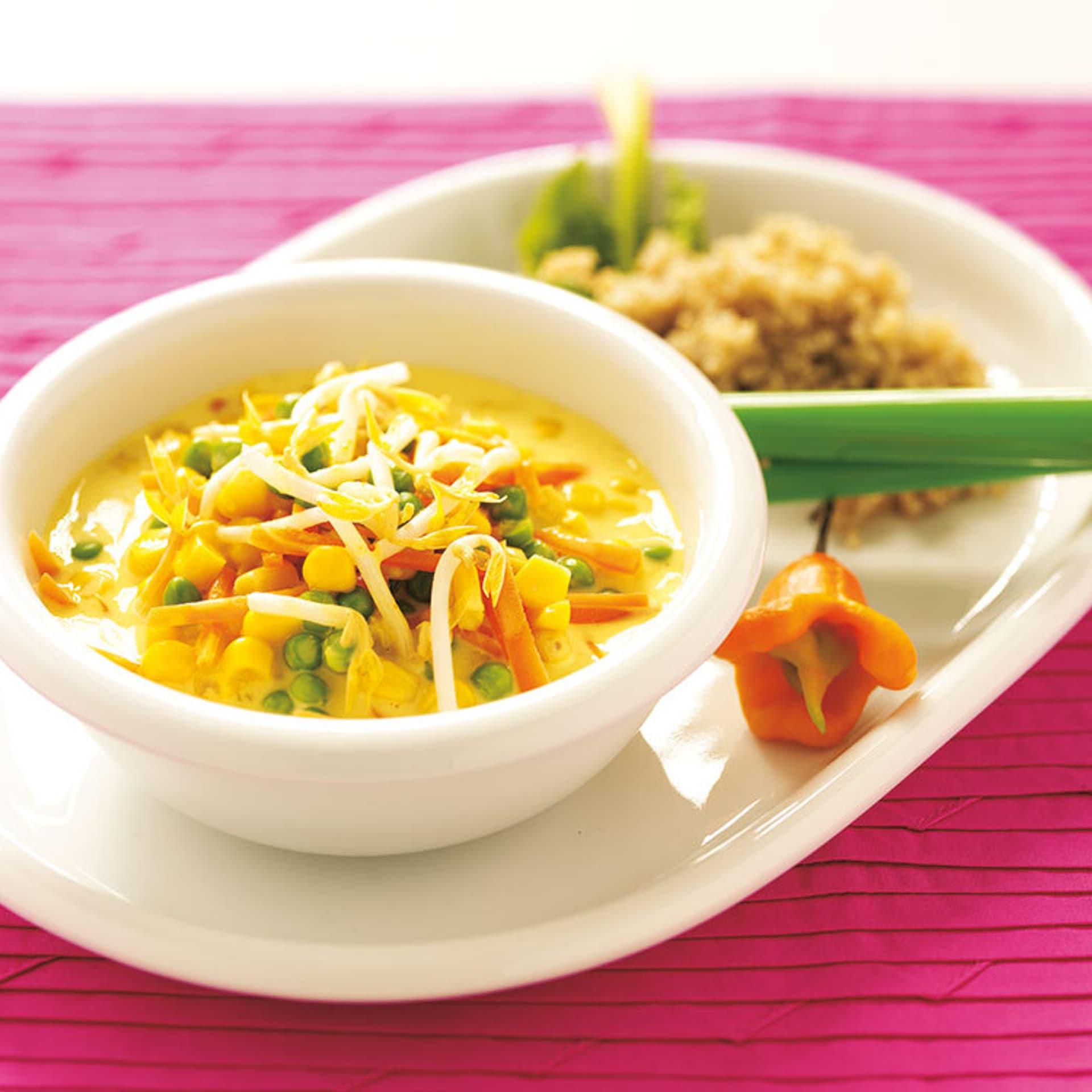 Quinoa mit thai gemuese