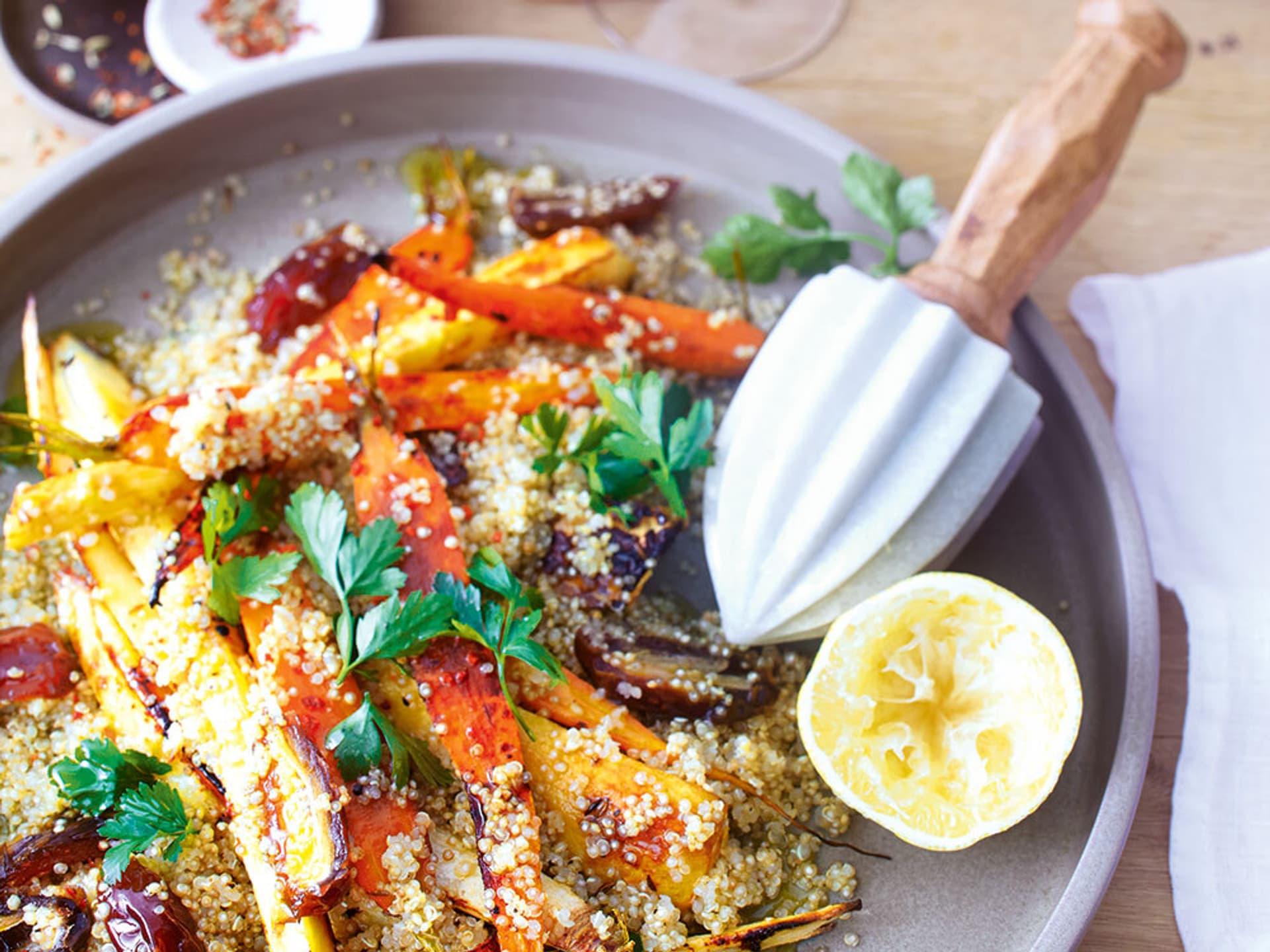 Quinoasalat mit Röstgemüse