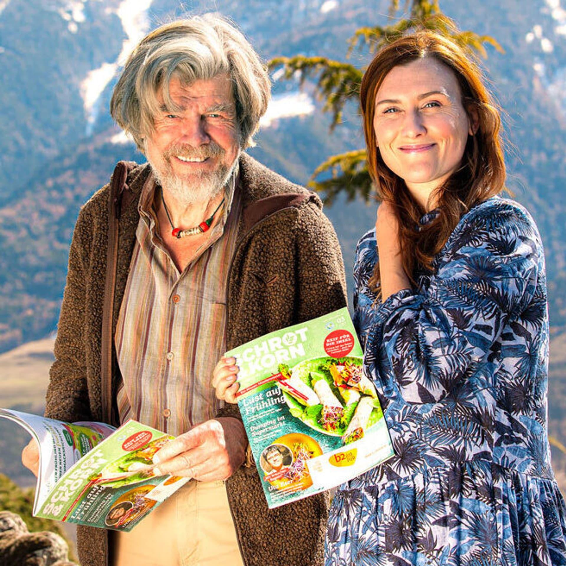 Reinhold Messner und Diane Schumacher in Südtirol