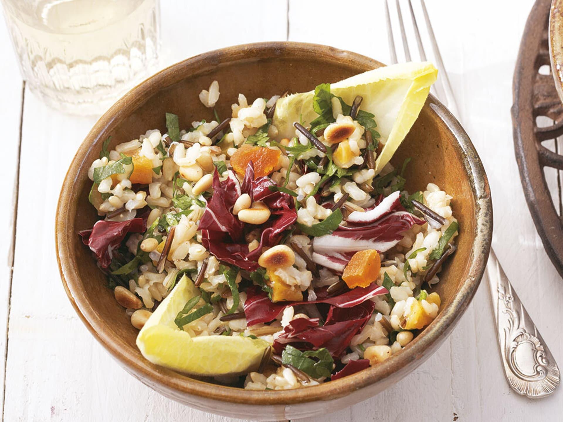 Reissalat mit Chicorée