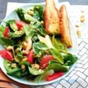 Spinatsalat mit Cashewkernen