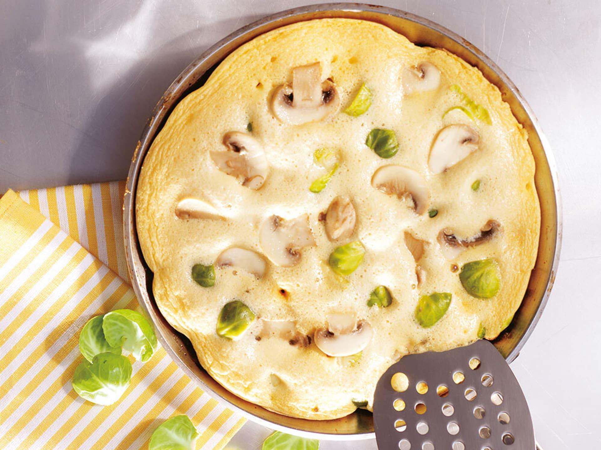 Rosenkohl-Champignon-Omelette