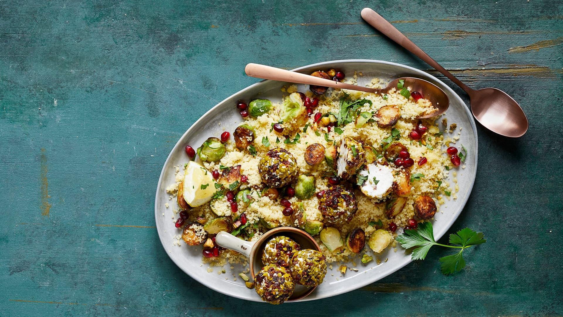 Couscous Salat mit Rosenkohl