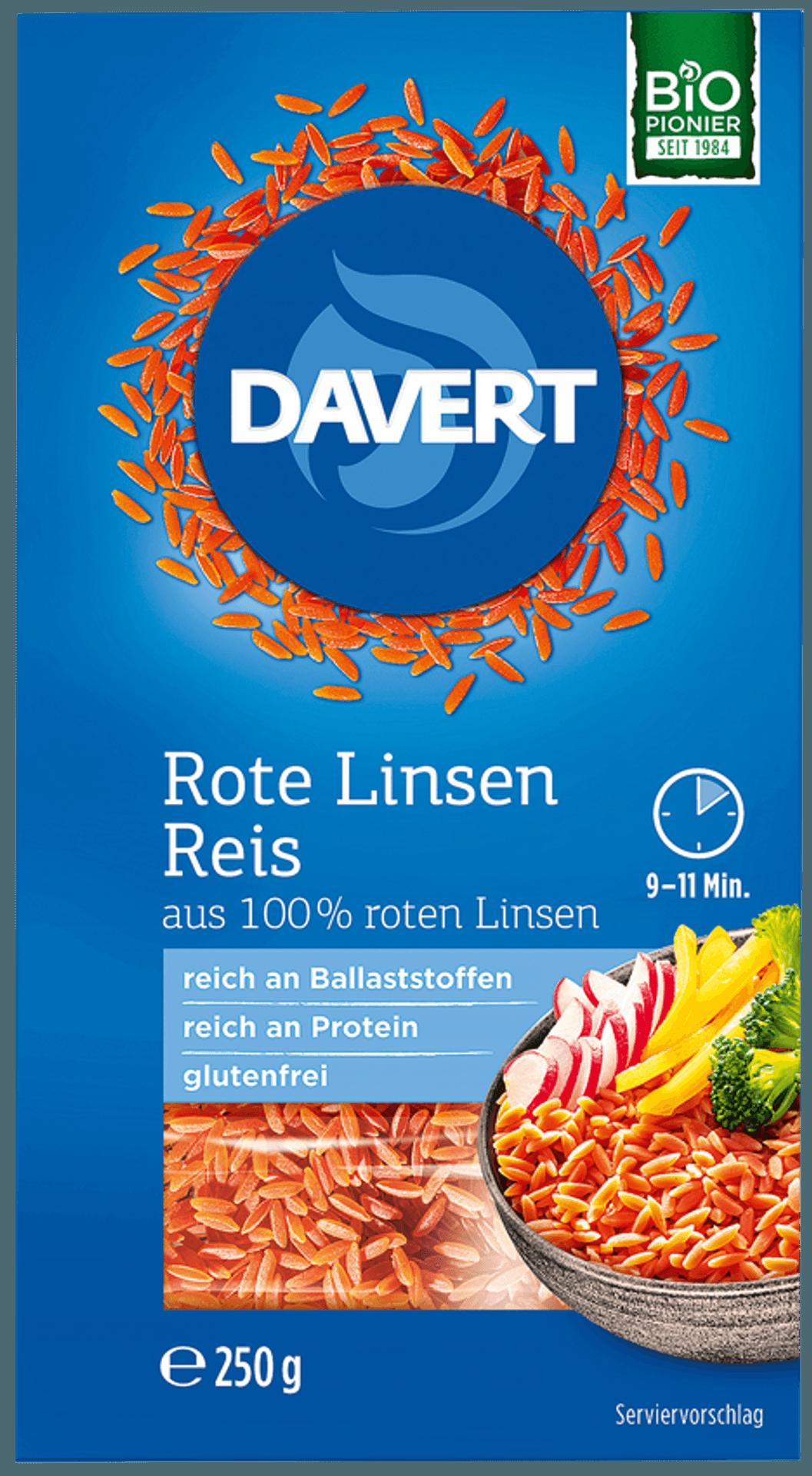 Packung mit Reis aus Roten Linsen