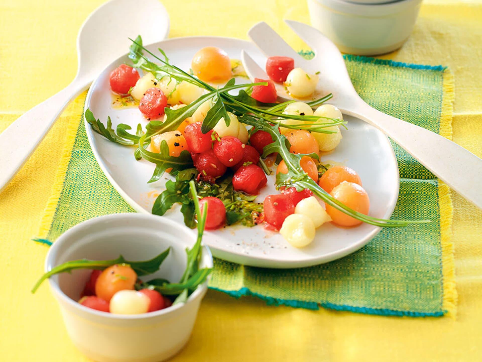 Rucola-Melonensalat