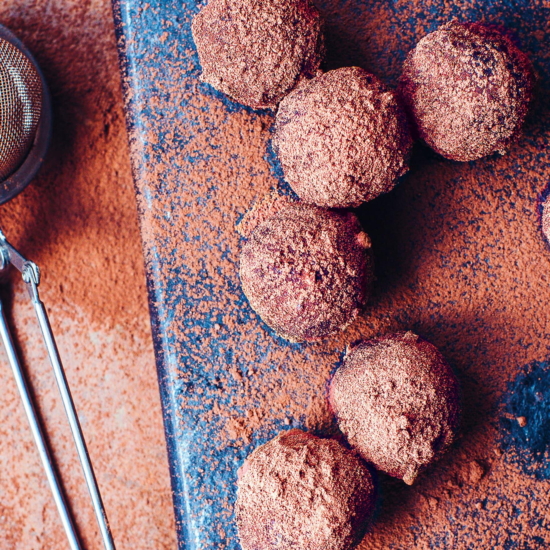 Rumkugeln mit Kakao