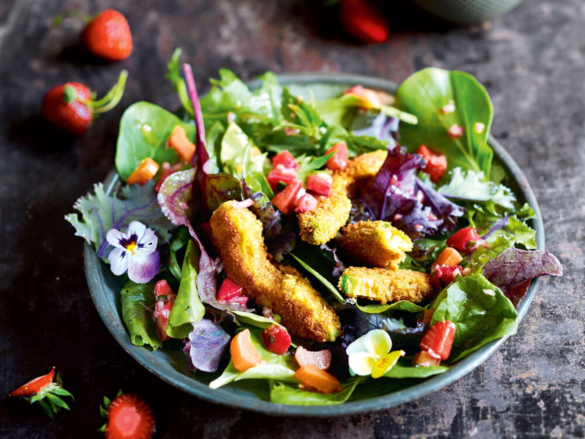 Salat mit Barbeer-Salsa