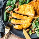 Sellerieschnitzel mit Cornflakes-Kruste