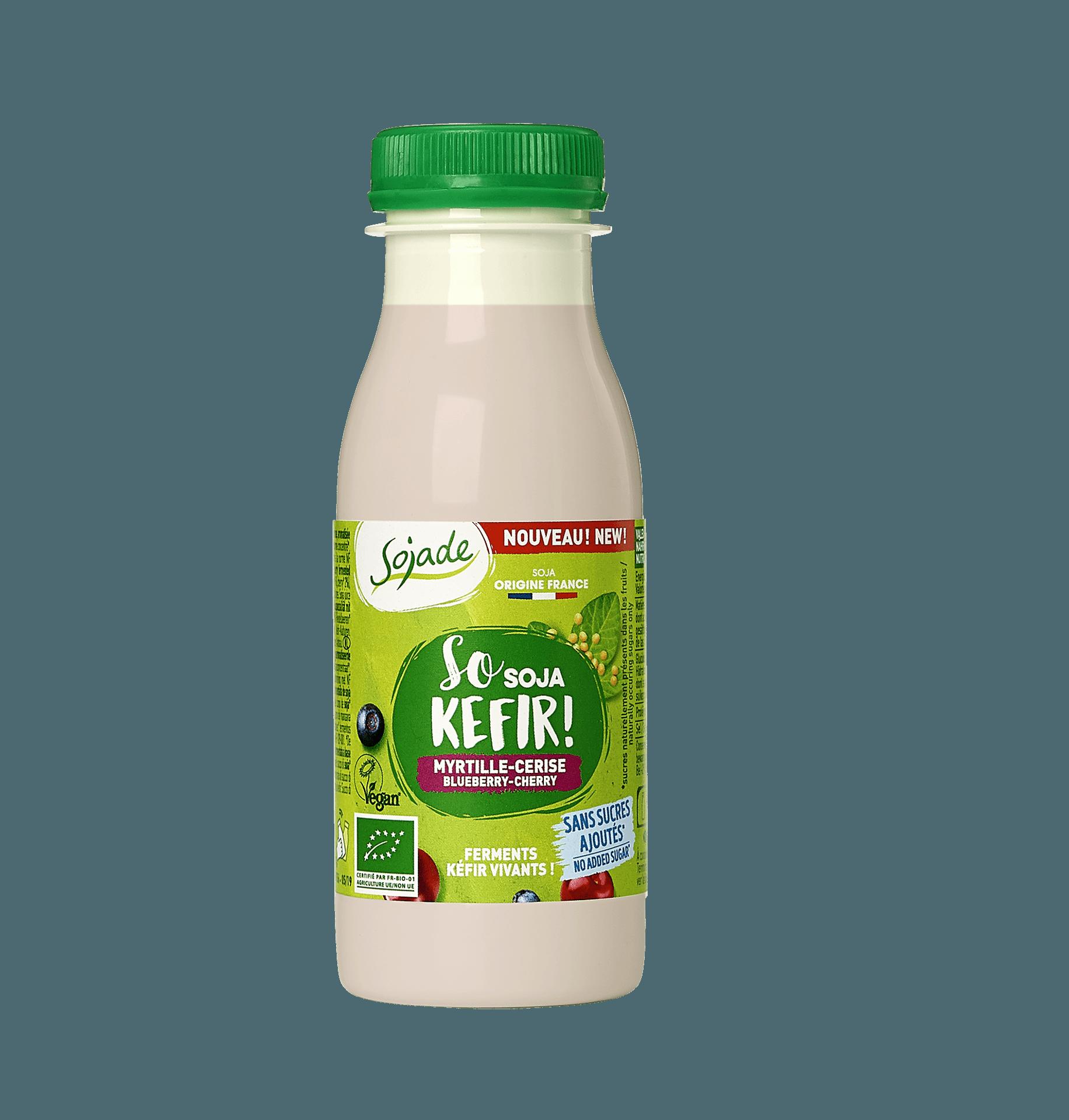 Soja-Kefir in Flasche