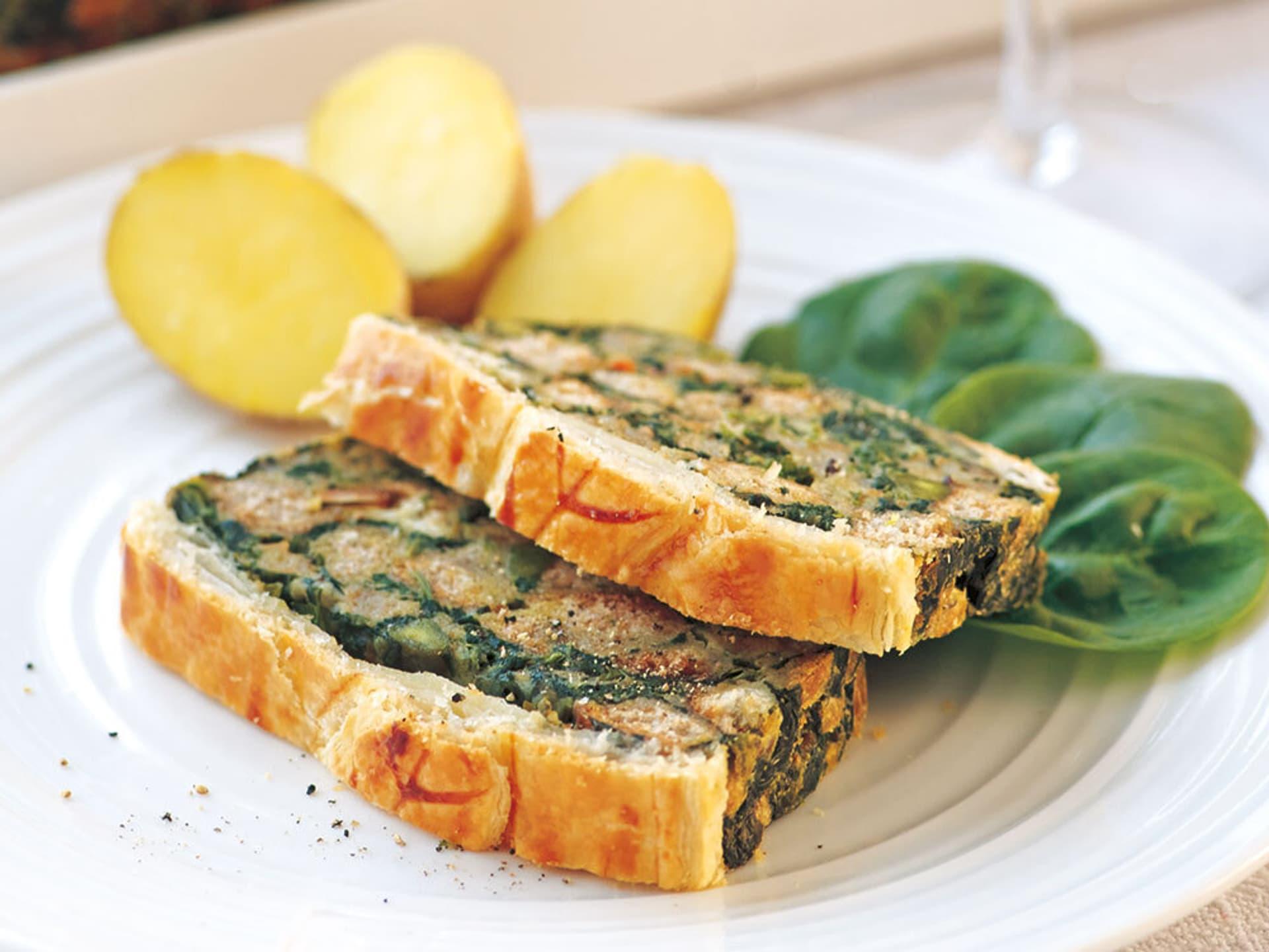 Spinat-Kräuter-Braten