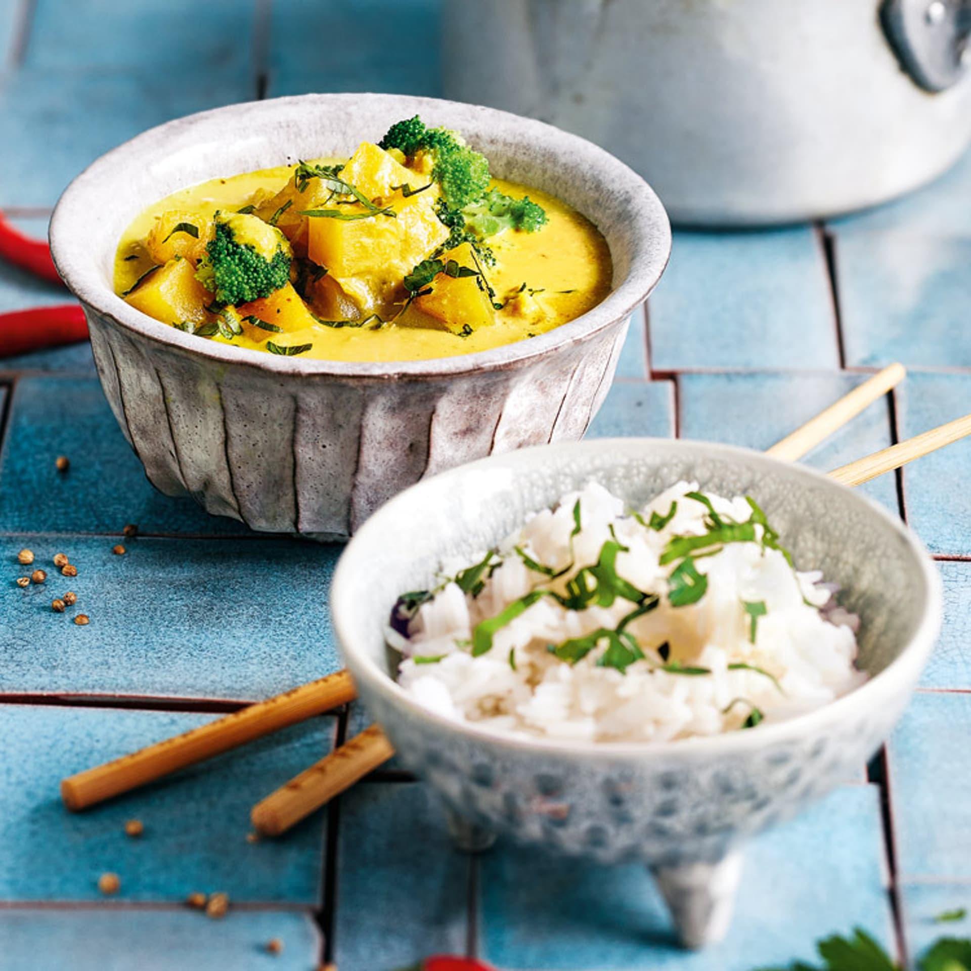 Steckrüben-Erdnuss-Curry