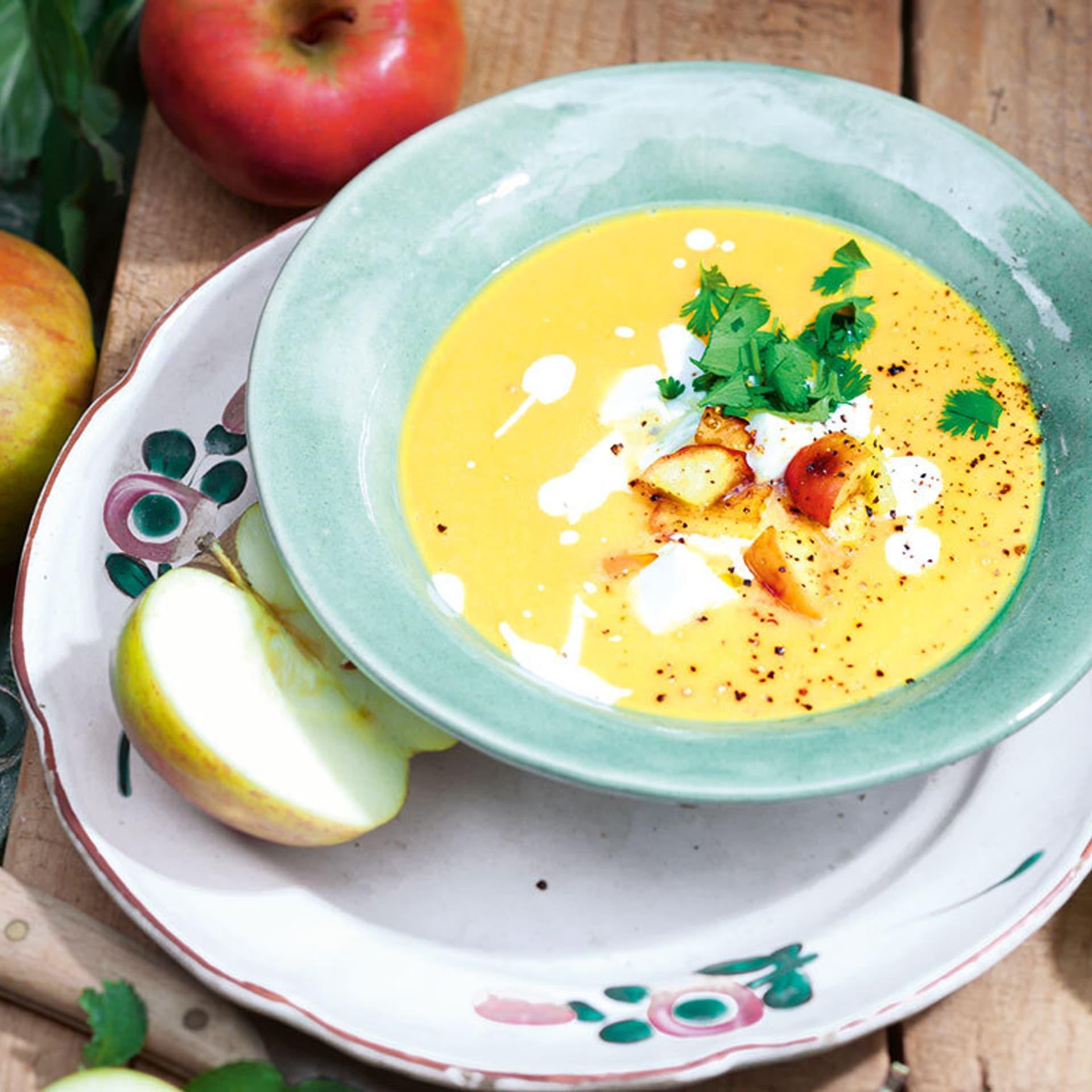 Suesskartoffel apfel suppe