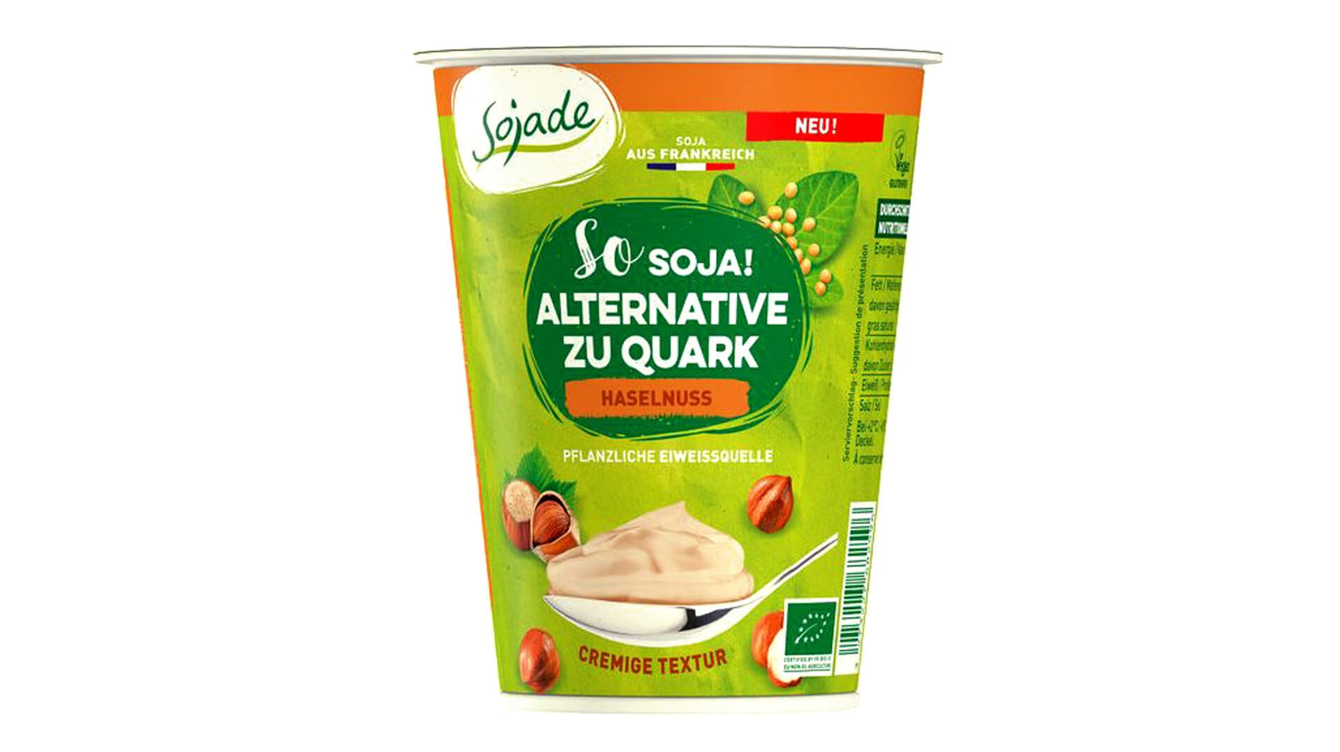 Sojade Haselnuss-Quark-Alternative