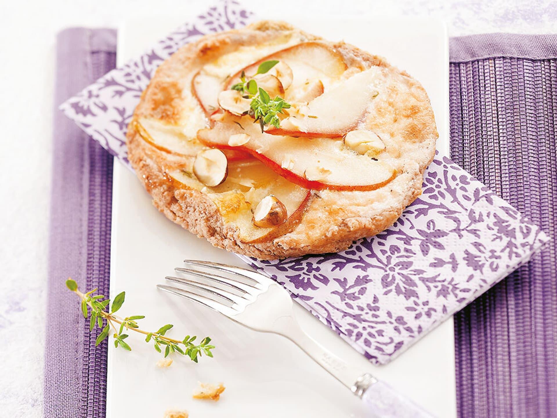 Tartelettes mit kräuterbirnen