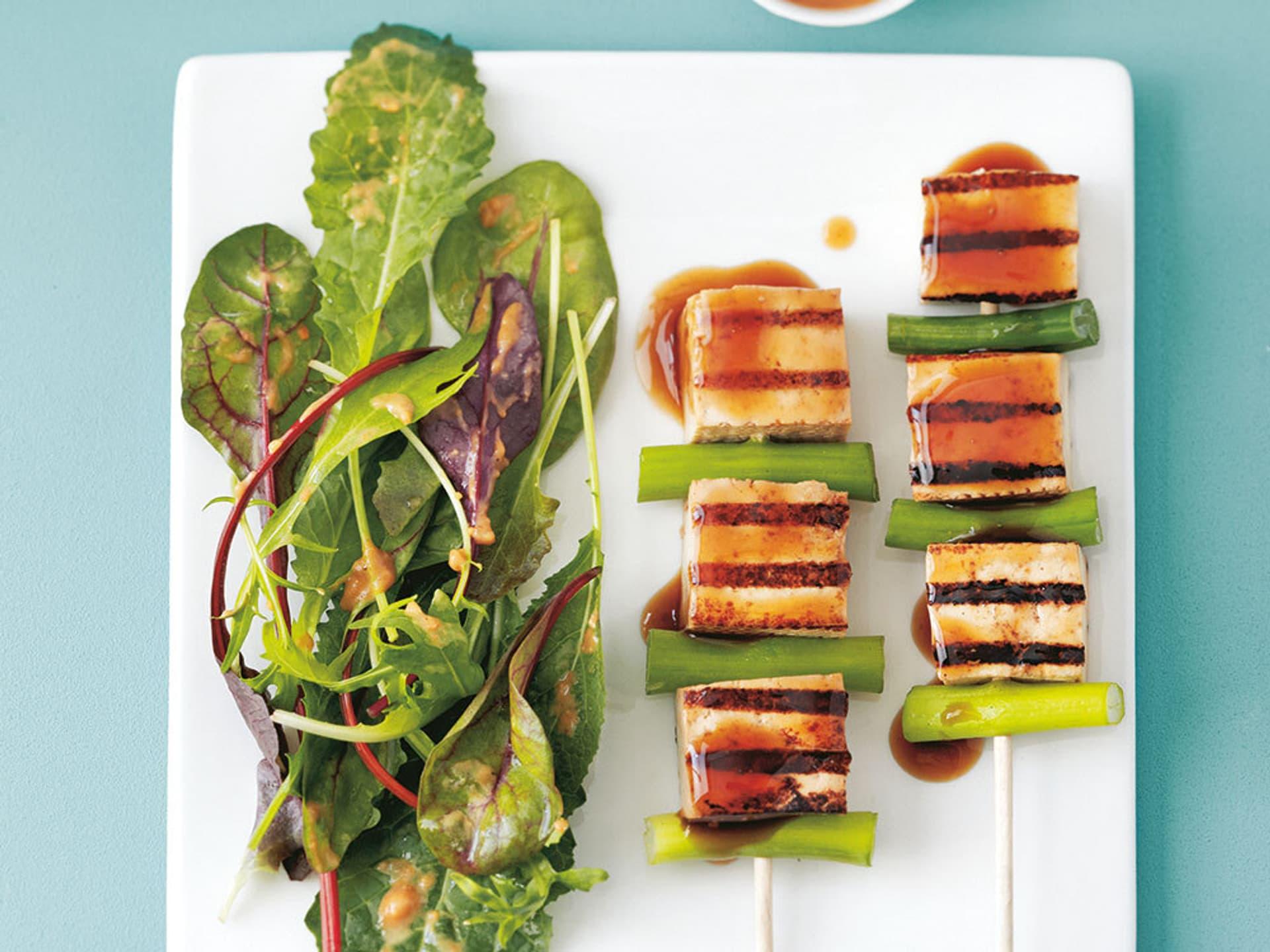 Teriyaki Tofu-Spieße