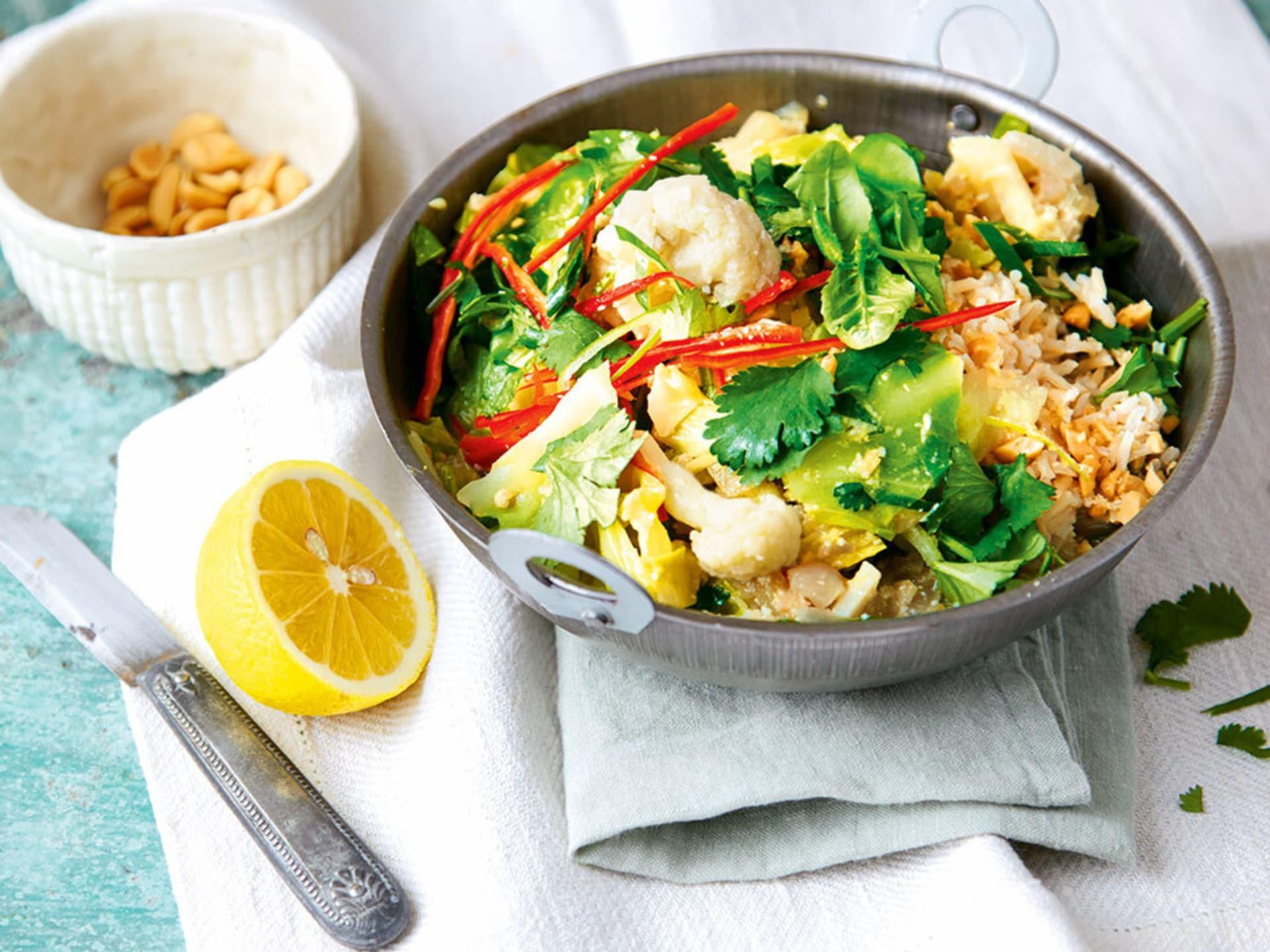 Thailändisches gemüse curry