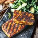 Tofu-Steak mit Rucola-Salat