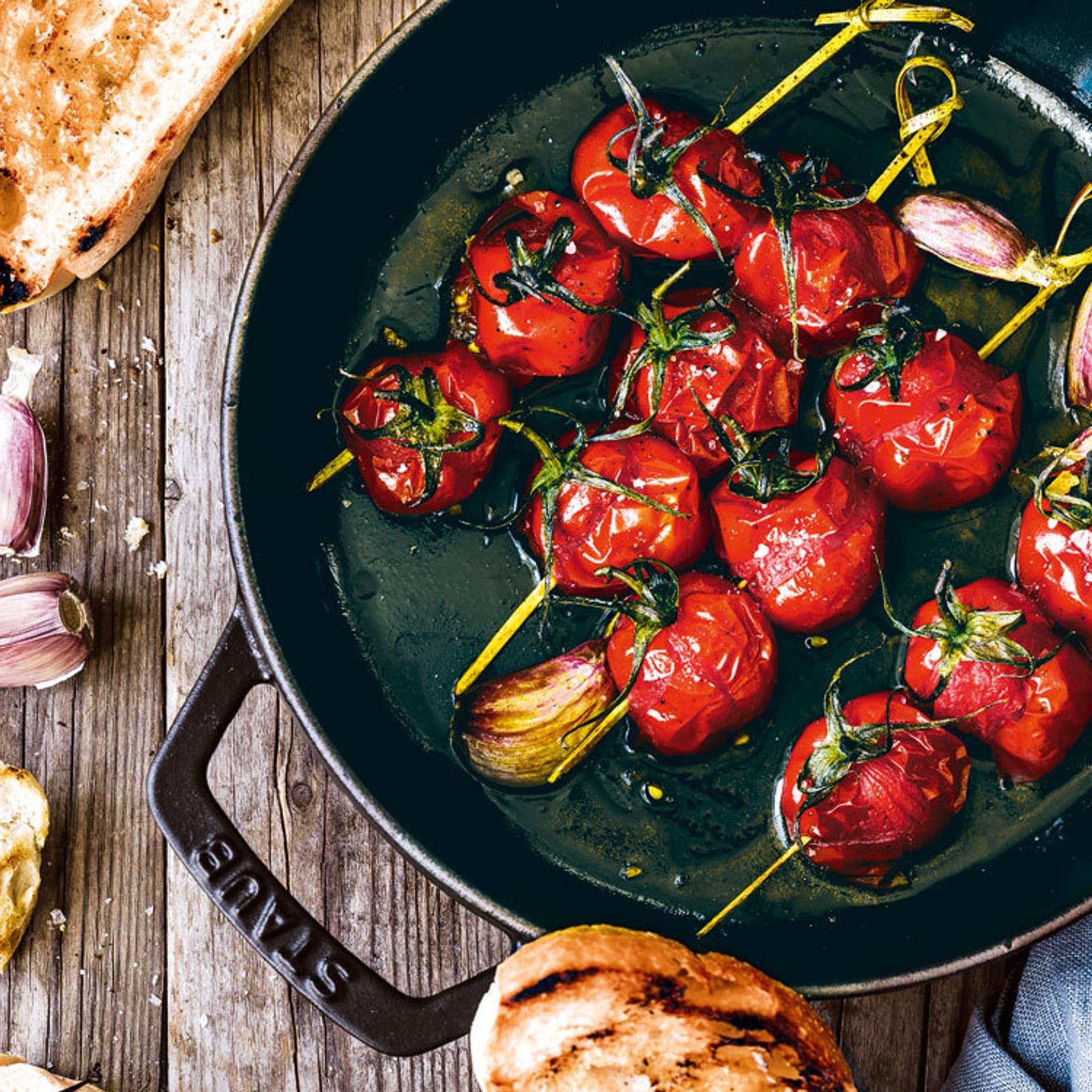 Tomaten-Lollipops
