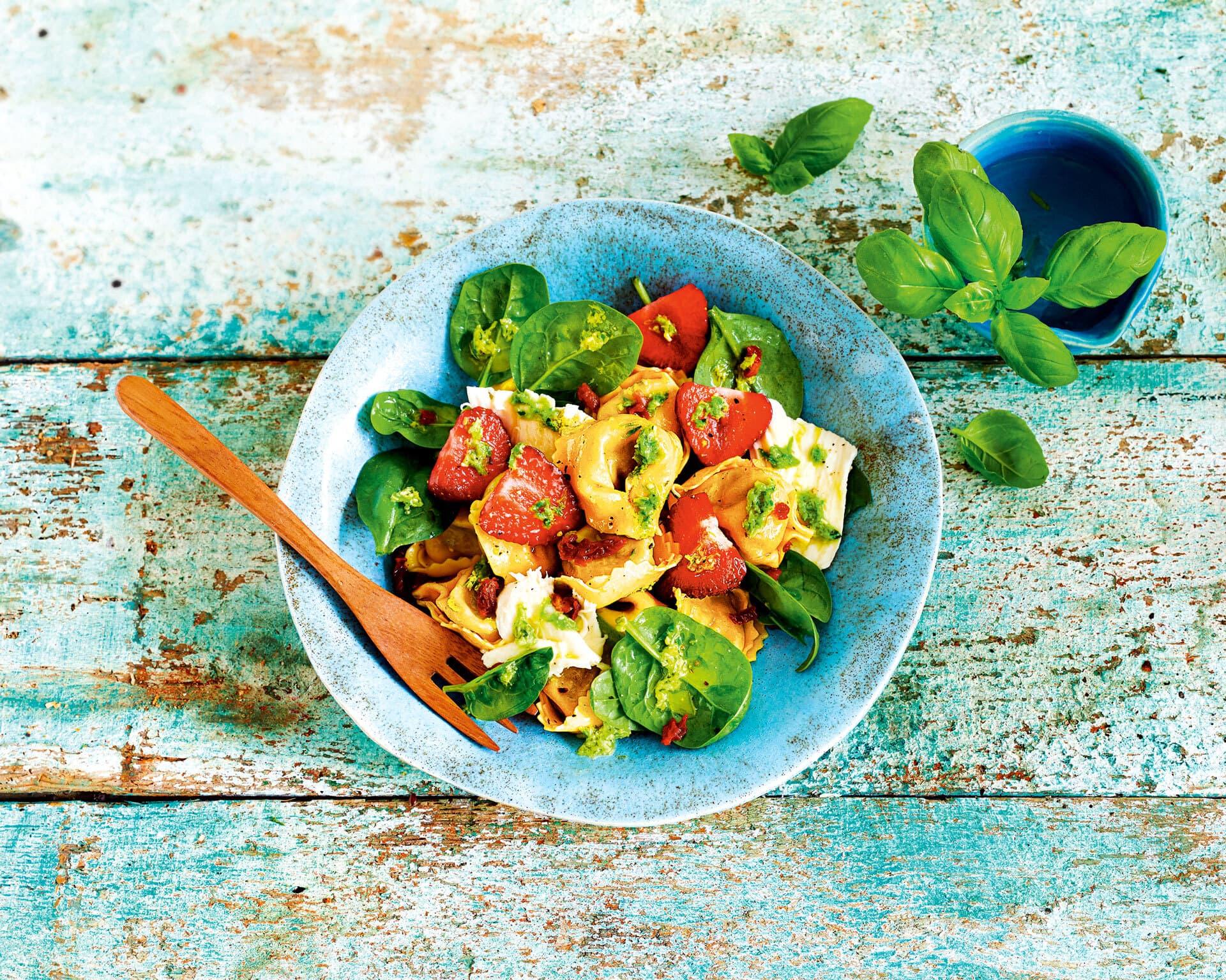Erdbeer Caprese Salat