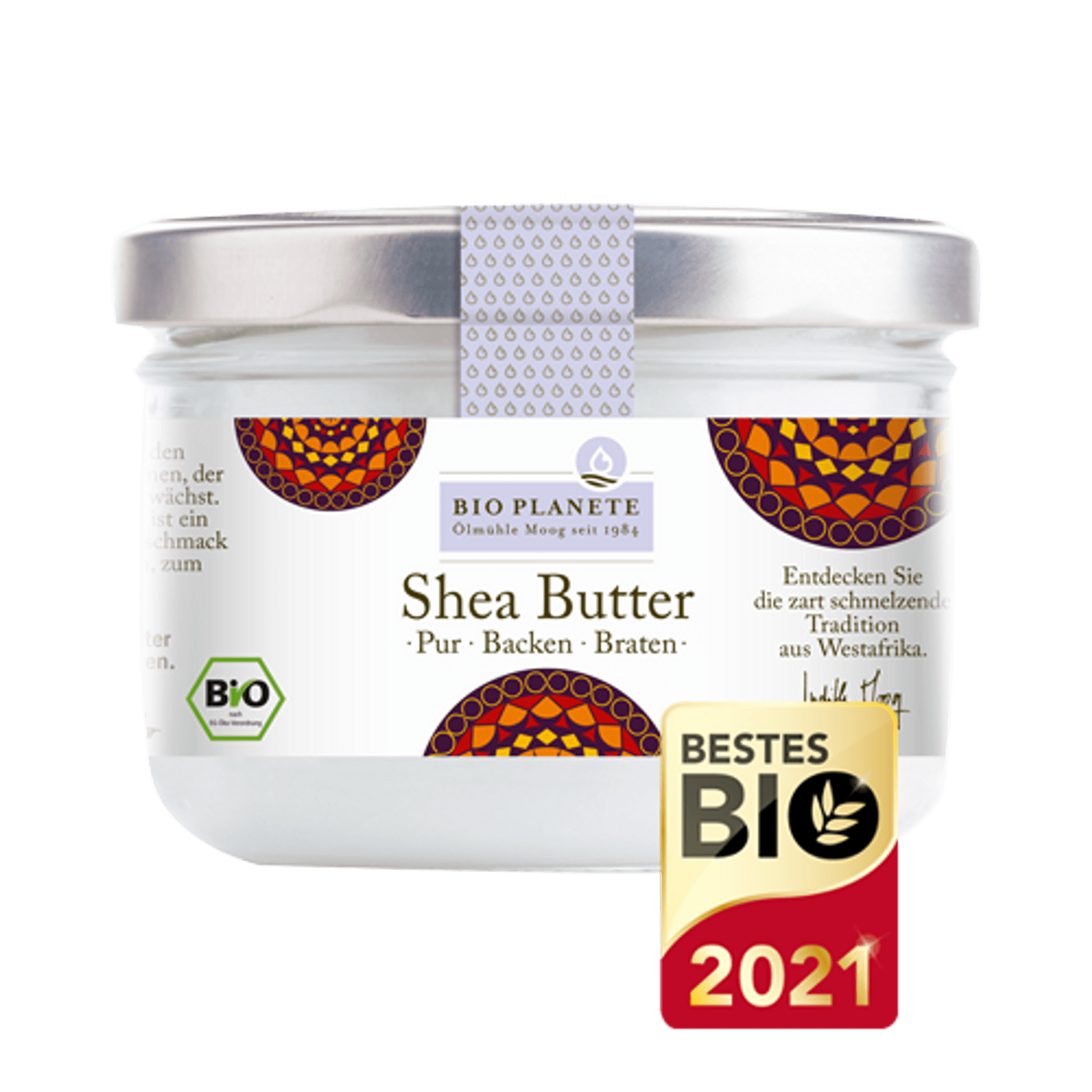 Glastiegel mit Shea-Butter