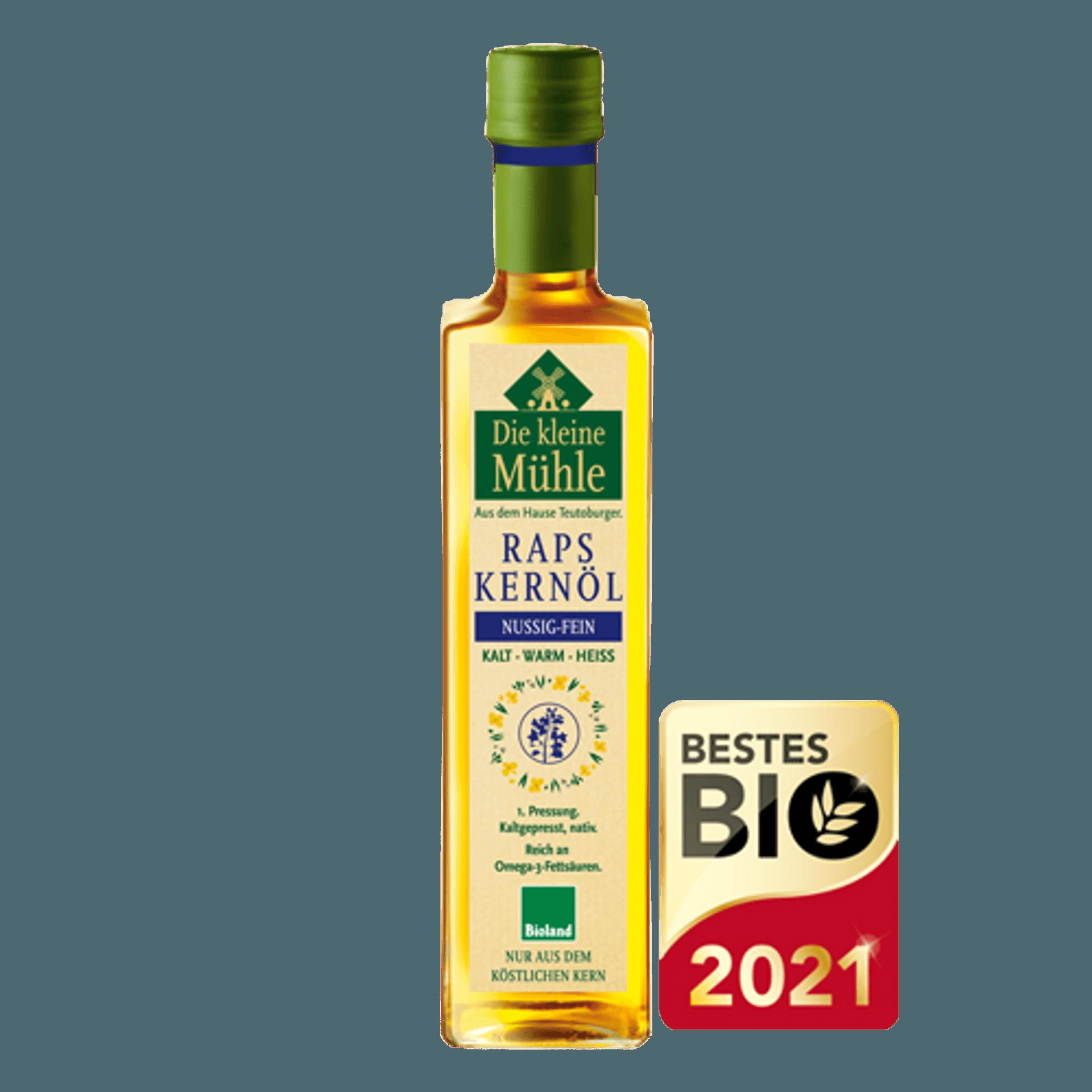 Flasche mit Rapsöl